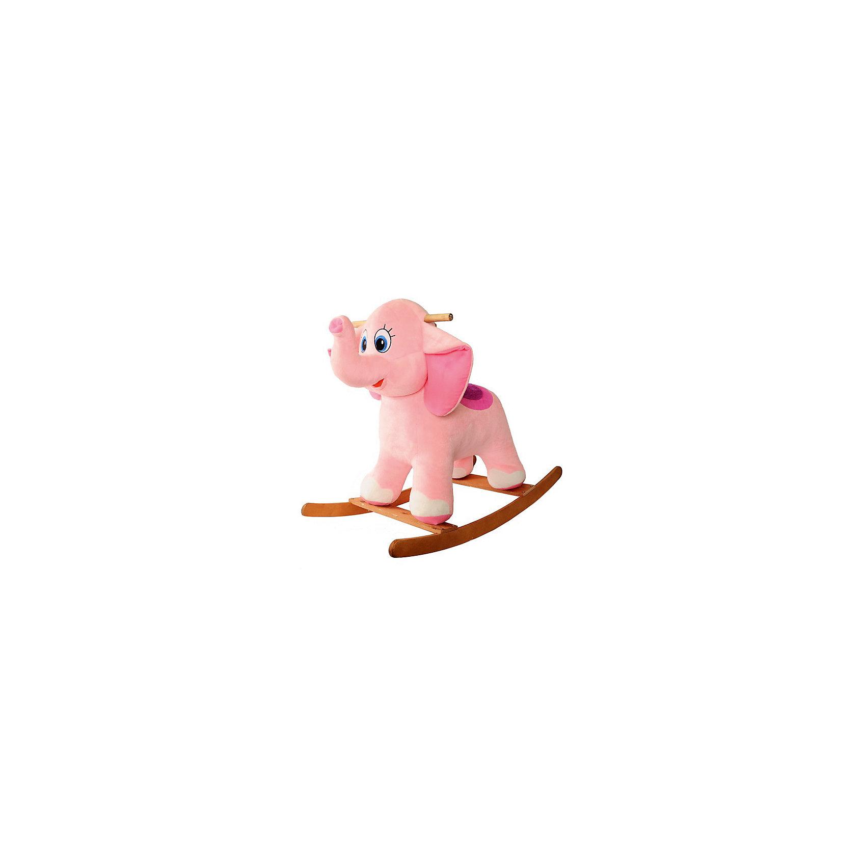 СмолТойс Слоник-качалка розовый, СмолТойс