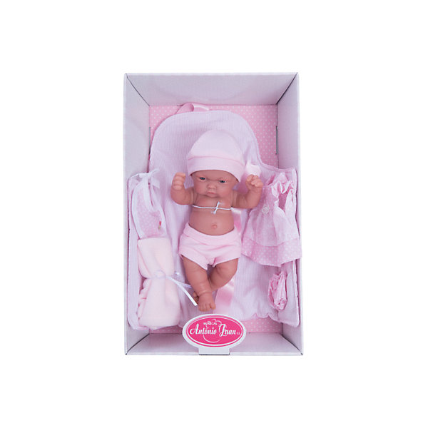Кукла-младенец Карла, 26 см, Munecas Antonio JuanКуклы<br>Образ этой очаровательной куклы  разработан известными европейскими дизайнерами. Малышка Карла приведет в восторг любую девочку. Ведь она так похожа на настоящего ребенка! Кукла имеет подвижные ручки и ножки, все части тела идеально точно проработаны и копируют настоящего младенца. Игрушка изготовлена из высококачественного винила с покрытием софт тач, мягкого и приятного на ощупь. В наборе множество реалистичных аксессуаров, позволяющих игре стать еще интереснее и увлекательнее. <br><br>Дополнительная информация:<br><br>- Материал: винил, текстиль.<br>- Размер: 26 см.<br>- Голова, руки, ноги подвижные. <br>- Комплектация: трусики, шорты, шапочка, платье, конверт с завязками, полотенце, нагрудник, сумочка. <br><br>Куклу-младенца Карлу, 26 см, Munecas Antonio Juan, можно купить в нашем магазине.<br><br>Ширина мм: 350<br>Глубина мм: 200<br>Высота мм: 125<br>Вес г: 750<br>Возраст от месяцев: 36<br>Возраст до месяцев: 84<br>Пол: Женский<br>Возраст: Детский<br>SKU: 4540600