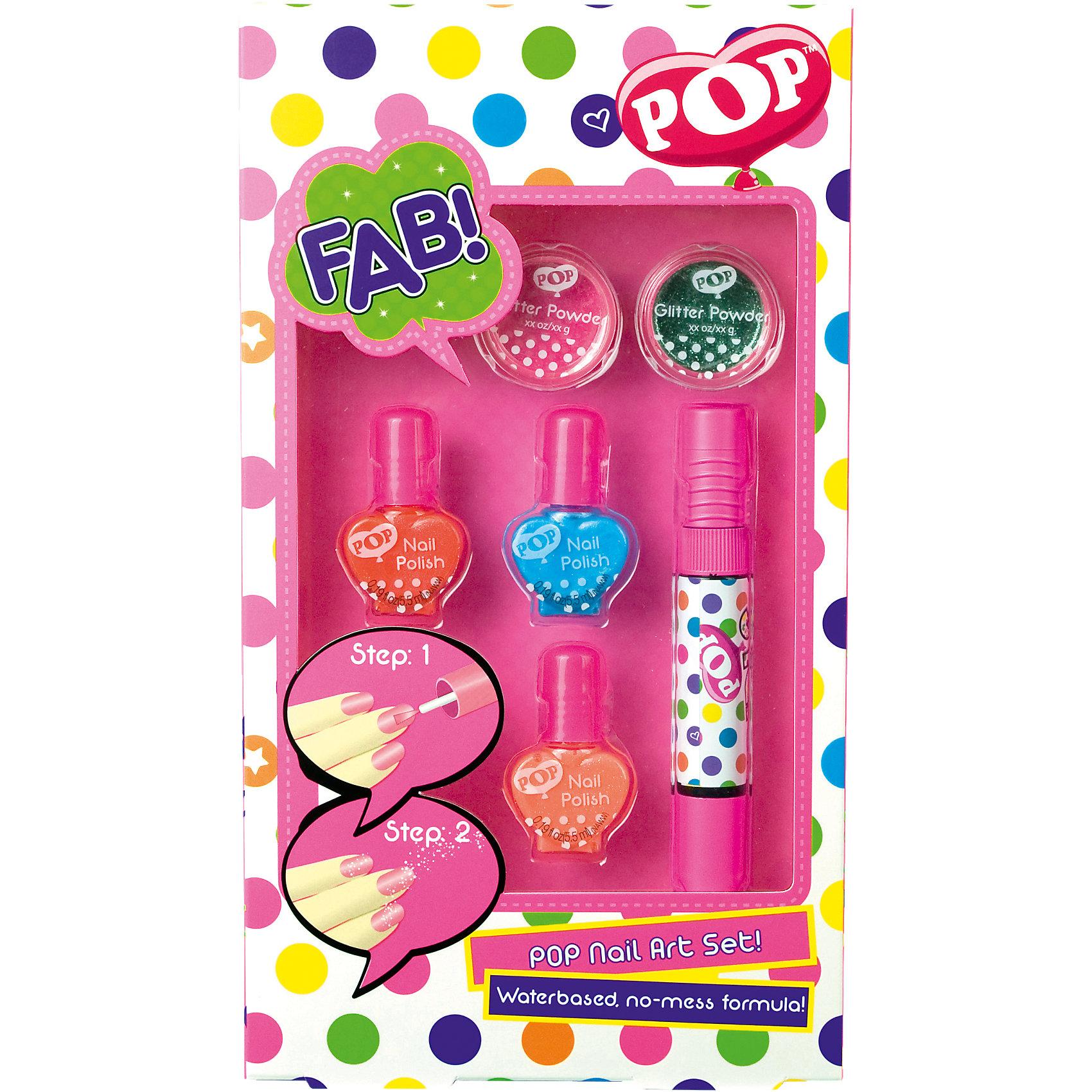 Игровой набор детской декоративной косметики POP для ногтейКосметика, грим и парфюмерия<br>Характеристики:<br><br>• Наименование: детская декоративная косметика<br>• Предназначение: для сюжетно-ролевых игр<br>• Пол: для девочки<br>• Материал: натуральные косметические компоненты, пластик, картон<br>• Цвет: розовый, бирюзовый, оранжевый и др.<br>• Комплектация: 3 оттенка лака для ногтей, 2 баночки блеска для ногтей, лак с кистью для нанесения рисунка<br>• Размеры (Д*Ш*В): 26*15*3,5 см<br>• Вес: 115 г <br>• Упаковка: картонная коробка с блистером<br><br>Игровой набор детской декоративной косметики POP для ногтей – это набор игровой детской косметики от Markwins, которая вот уже несколько десятилетий специализируется на выпуске детской косметики. Рецептура декоративной детской косметики разработана совместно с косметологами и медиками, в основе рецептуры – водная основа, а потому она гипоаллергенны, не вызывает раздражений на детской коже и легко смывается, не оставляя следа. Безопасность продукции подтверждена международными сертификатами качества и безопасности. <br>Игровой набор детской декоративной косметики POP состоит из 3-х оттенков лака для ногтей, лака с кисточкой для росписи ногтей и блеска. Косметические средства, входящие в состав набора, имеют длительный срок хранения – 12 месяцев. Игровой набор детской декоративной косметики POP от Markwins может стать незаменимым праздничным подарком для любой маленькой модницы!<br><br>Игровой набор детской декоративной косметики POP для ногтей можно купить в нашем интернет-магазине.<br><br>Ширина мм: 140<br>Глубина мм: 28<br>Высота мм: 252<br>Вес г: 127<br>Возраст от месяцев: 48<br>Возраст до месяцев: 108<br>Пол: Женский<br>Возраст: Детский<br>SKU: 4540662