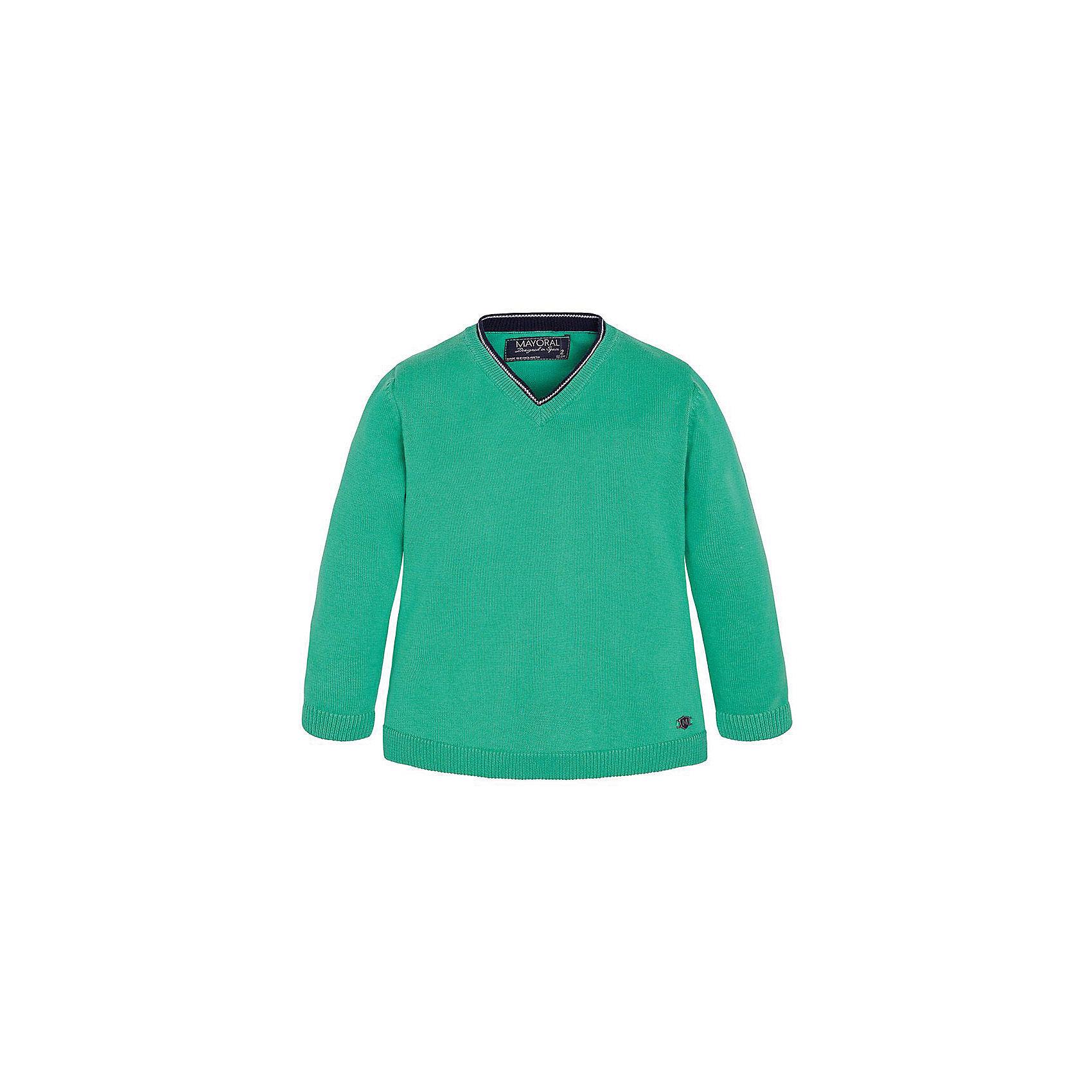 Свитер для мальчика MayoralСвитер для мальчика от известной испанской марки Mayoral <br><br>Модный яркий свитер от Mayoral актуален и на каждый день и на праздник! Он прекрасно сочетается с джинсами и брюками.  Модель выполнена из качественных материалов, отлично сидит по фигуре.<br><br>Особенности модели:<br><br>- цвет: зеленый;<br>- рукава длинные;<br>- отделка ворота;<br>- низ и конец рукавов - резинки;<br>- натуральный материал.<br><br>Дополнительная информация:<br><br>Состав: 100% хлопок<br><br>Свитер для мальчика Mayoral (Майорал) можно купить в нашем магазине.<br><br>Ширина мм: 190<br>Глубина мм: 74<br>Высота мм: 229<br>Вес г: 236<br>Цвет: зеленый<br>Возраст от месяцев: 24<br>Возраст до месяцев: 36<br>Пол: Мужской<br>Возраст: Детский<br>Размер: 98,104,110,122,128,134,116,92<br>SKU: 4541210