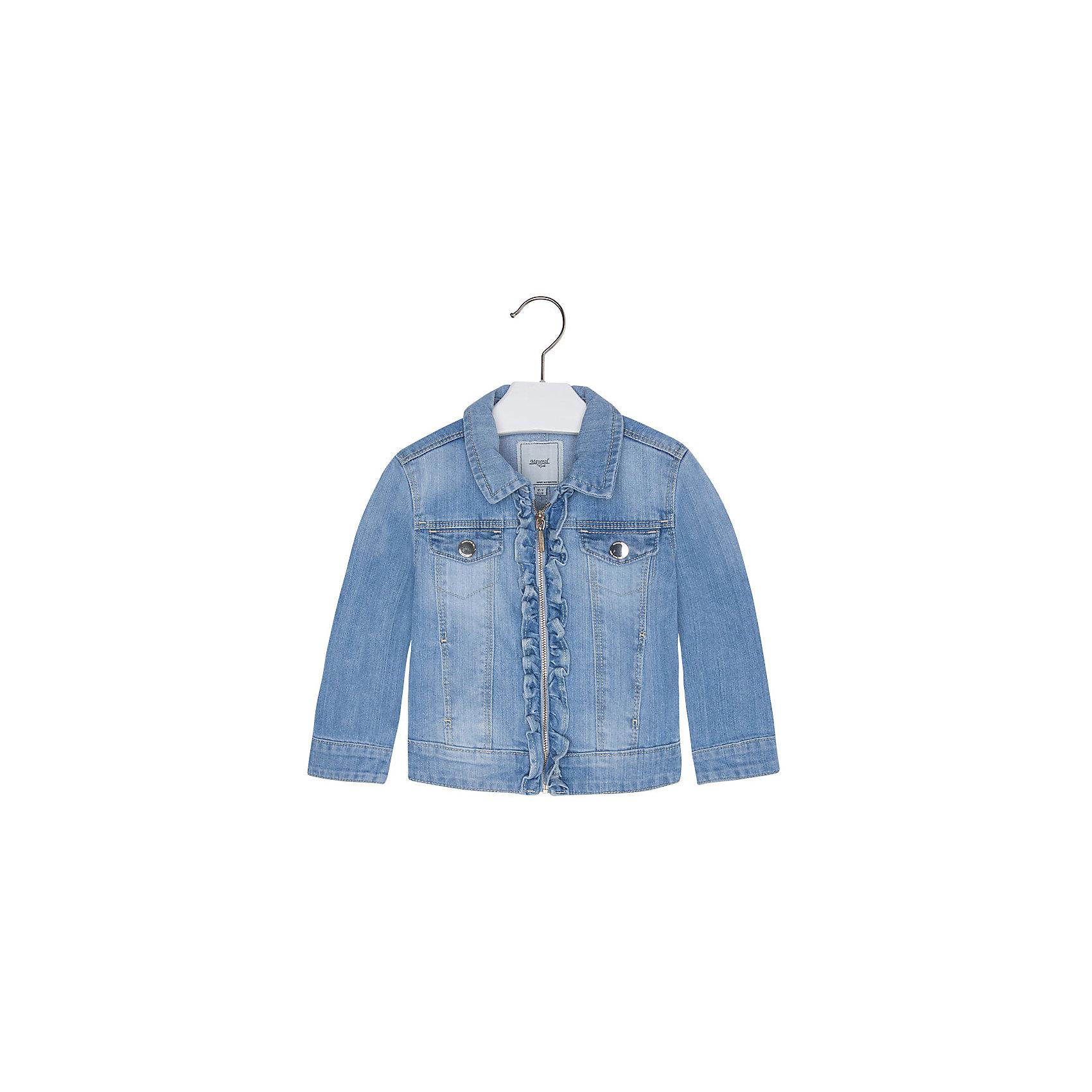 Mayoral Джинсовая куртка для девочки Mayoral