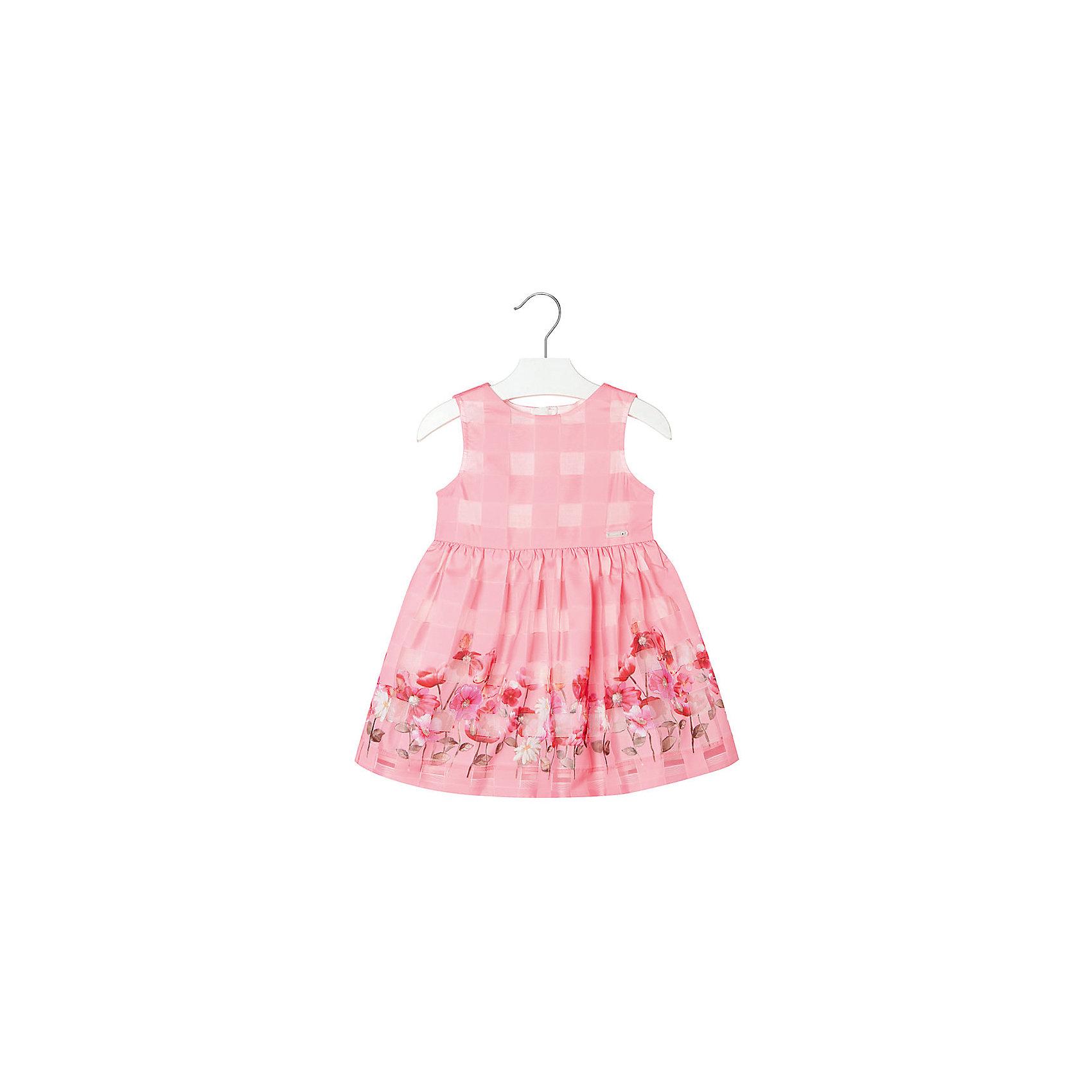 Платье для девочки MayoralПлатье для девочки от известной испанской марки Mayoral <br><br>Очень красивое платье от Mayoral отлично смотрится на любой маленькой принцессе! Выглядит нарядно и оригинально. Модель выполнена из качественных материалов, отлично сидит по фигуре.<br><br>Особенности модели:<br><br>- цвет: розовый;<br>- украшено принтом;<br>- сзади молния.<br><br>Дополнительная информация:<br><br>Состав: 100% полиэстер<br><br>Платье для девочки Mayoral (Майорал) можно купить в нашем магазине.<br><br>Ширина мм: 236<br>Глубина мм: 16<br>Высота мм: 184<br>Вес г: 177<br>Цвет: розовый<br>Возраст от месяцев: 36<br>Возраст до месяцев: 48<br>Пол: Женский<br>Возраст: Детский<br>Размер: 104,92,98,110,122,134,128,116<br>SKU: 4543119