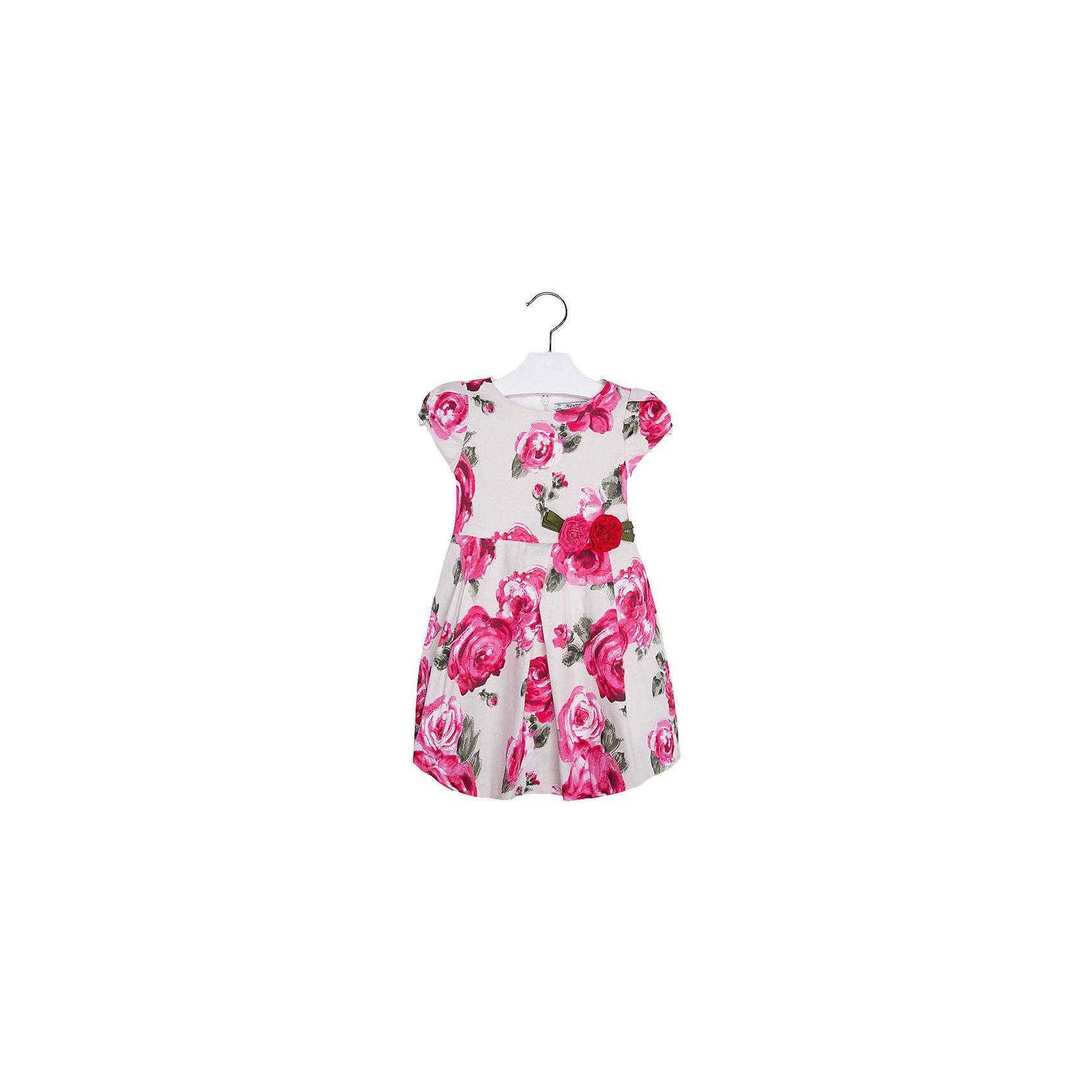 Платье для девочки MayoralПлатье для девочки от известной испанской марки Mayoral <br><br>Очень красивое платье от Mayoral отлично смотрится на любой маленькой принцессе! Выглядит нарядно и оригинально. Модель выполнена из качественных материалов, отлично сидит по фигуре.<br><br>Особенности модели:<br><br>- цвет: розовый, белый;<br>- цветочный принт;<br>- сзади молния.<br><br>Дополнительная информация:<br><br>Состав: 96% хлопок, 4% эластан<br><br>Платье для девочки Mayoral (Майорал) можно купить в нашем магазине.<br><br>Ширина мм: 236<br>Глубина мм: 16<br>Высота мм: 184<br>Вес г: 177<br>Цвет: розовый<br>Возраст от месяцев: 24<br>Возраст до месяцев: 36<br>Пол: Женский<br>Возраст: Детский<br>Размер: 98,110,92,104,116,128,134,122<br>SKU: 4543205