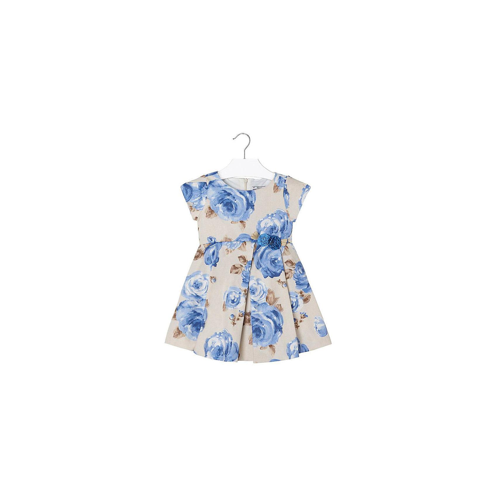 Платье для девочки MayoralПлатье для девочки от известной испанской марки Mayoral <br><br>Очень красивое платье от Mayoral отлично смотрится на любой маленькой принцессе! Выглядит нарядно и оригинально. Модель выполнена из качественных материалов, отлично сидит по фигуре.<br><br>Особенности модели:<br><br>- цвет: голубой, белый;<br>- цветочный принт;<br>- сзади молния.<br><br>Дополнительная информация:<br><br>Состав: 96% хлопок, 4% эластан<br><br>Платье для девочки Mayoral (Майорал) можно купить в нашем магазине.<br><br>Ширина мм: 236<br>Глубина мм: 16<br>Высота мм: 184<br>Вес г: 177<br>Цвет: голубой<br>Возраст от месяцев: 24<br>Возраст до месяцев: 36<br>Пол: Женский<br>Возраст: Детский<br>Размер: 98,116,92,110,134,122,104,128<br>SKU: 4543214