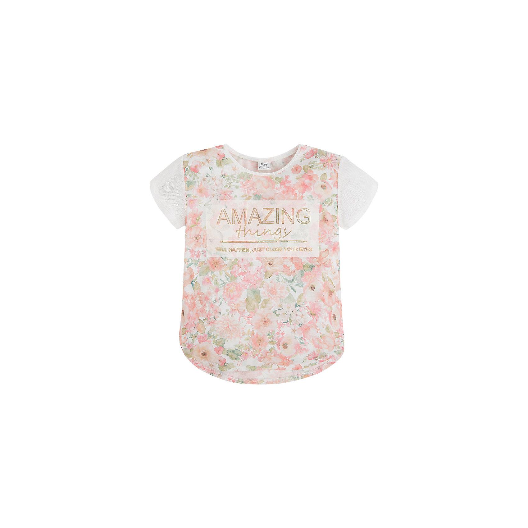 Футболка для девочки MayoralФутболка для девочки от известной испанской марки Mayoral - прекрасный вариант для юных модниц!<br><br>Дополнительная информация:<br><br>- Стильный дизайн.<br>- Округлый вырез горловины.<br>- Нежный принт.<br>- Состав: 100% полиэстер. <br><br>Футболку для девочки Mayoral (Майорал) можно купить в нашем магазине.<br><br>Ширина мм: 199<br>Глубина мм: 10<br>Высота мм: 161<br>Вес г: 151<br>Цвет: розовый<br>Возраст от месяцев: 84<br>Возраст до месяцев: 96<br>Пол: Женский<br>Возраст: Детский<br>Размер: 128,170,164,158,152,140<br>SKU: 4543306