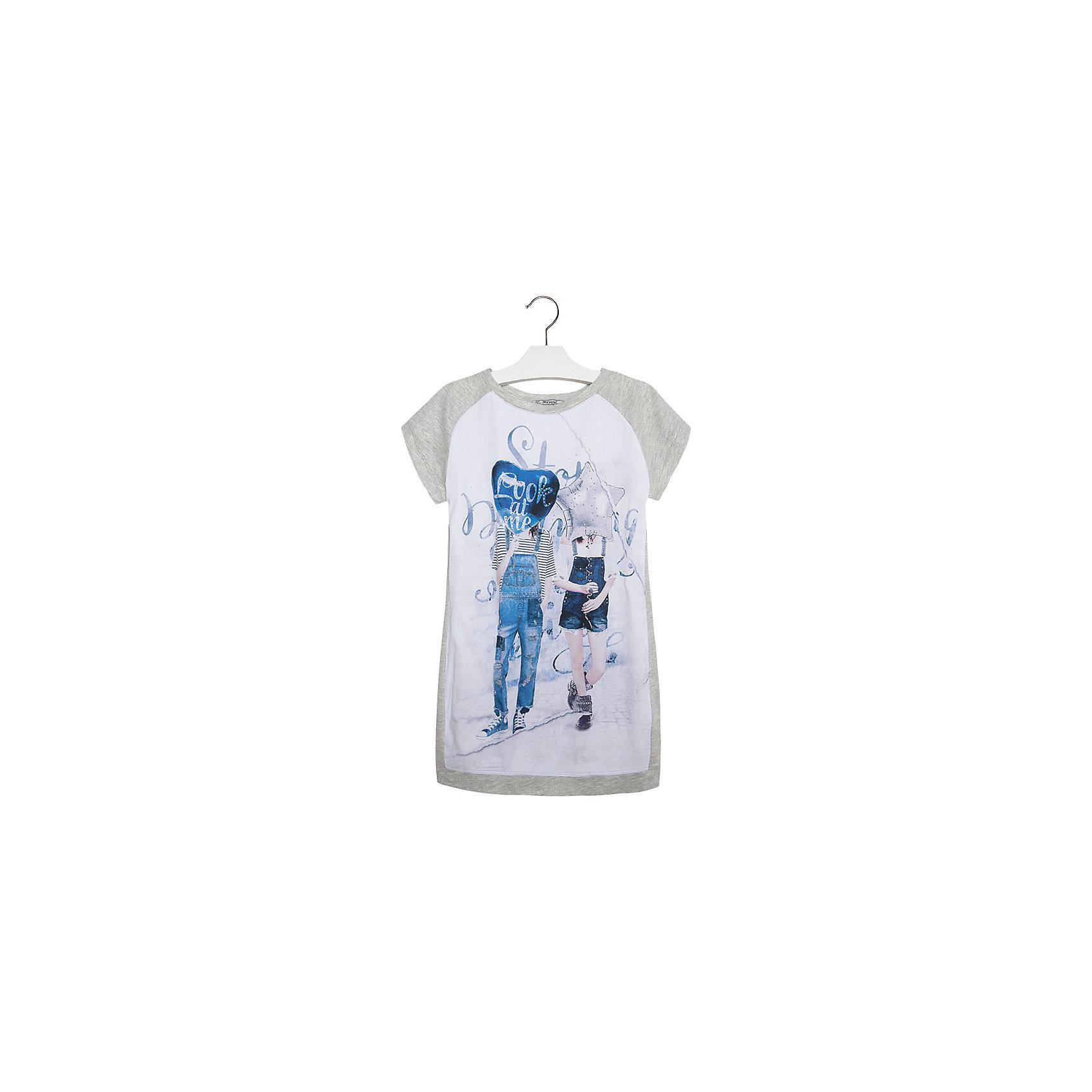 Платье для девочки MayoralПлатье для девочки от известной испанской марки Mayoral приведет в восторг всех юных модниц!<br><br>Дополнительная информация.<br><br>- Мягкая трикотажная ткань.<br>- Округлый вырез горловины.<br>- Яркий принт спереди.<br>- Однотонная спинка. <br>- Застегивается на пуговицу на спине. <br>- Состав: верх - 65 % полиэстер, 35 % хлопок, подкладка - 100% полиэстер.<br><br>Платье для девочки Mayoral (Майорал) можно купить в нашем магазине.<br><br>Ширина мм: 236<br>Глубина мм: 16<br>Высота мм: 184<br>Вес г: 177<br>Цвет: серый<br>Возраст от месяцев: 84<br>Возраст до месяцев: 96<br>Пол: Женский<br>Возраст: Детский<br>Размер: 128,170,140,164,158,152<br>SKU: 4543567