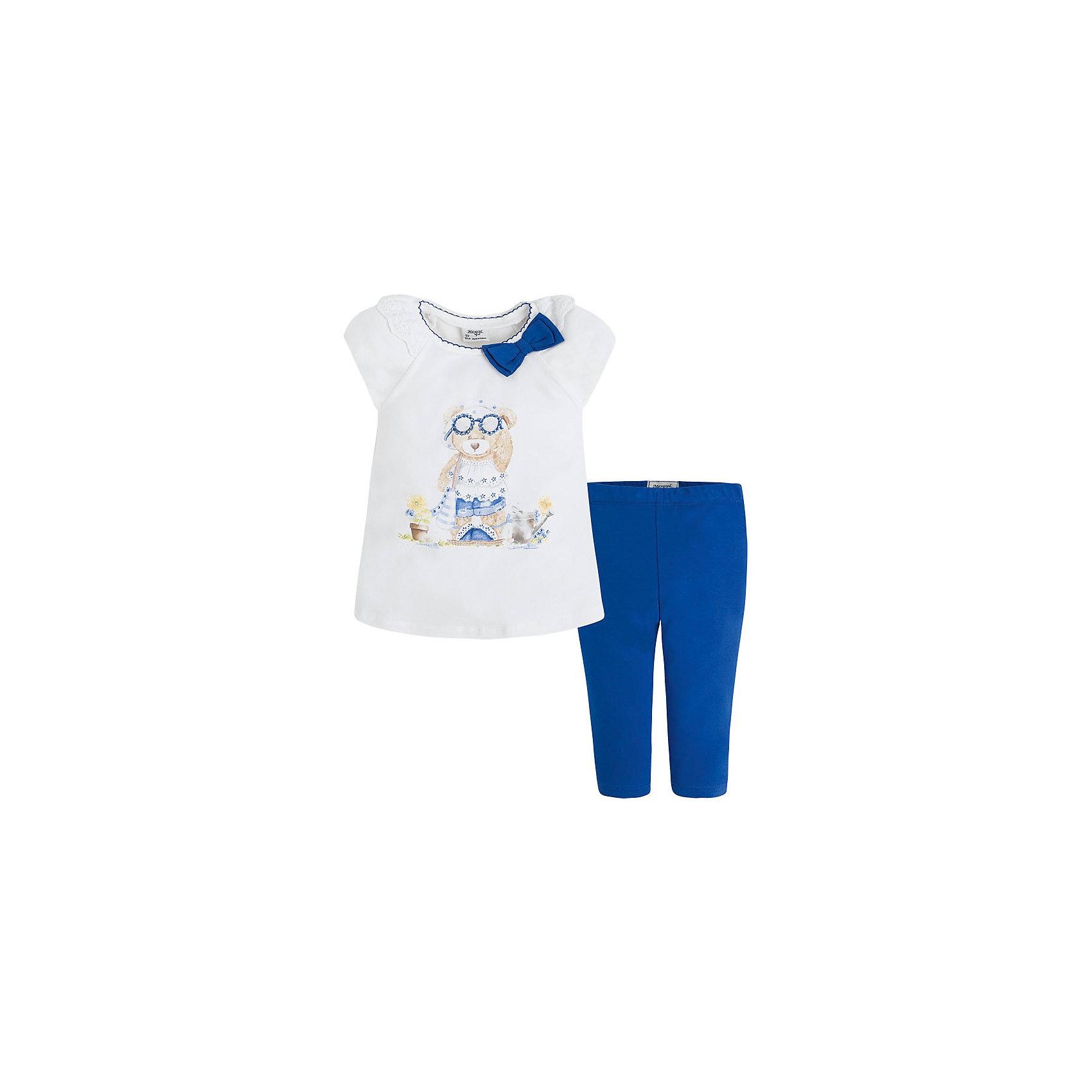 Mayoral Комплект для девочки: бриджи и футболка Mayoral бриджи unistyle бриджи