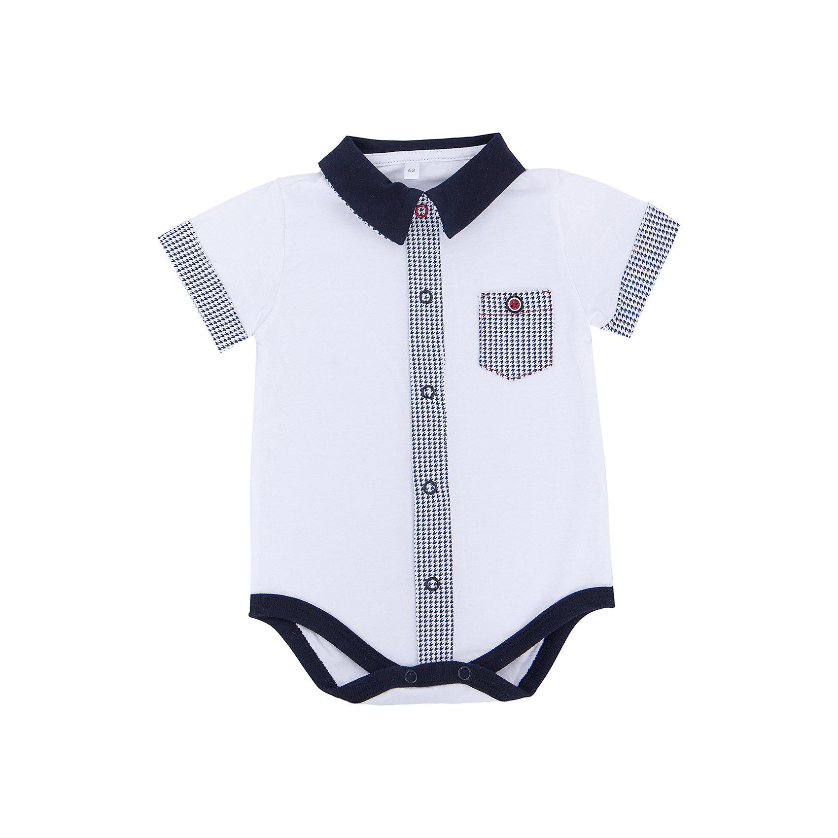 Боди для мальчика Soni KidsБоди для мальчика от популярной марки Soni Kids <br> <br>Модное боди в черно-белой гамме сшито из мягкого дышащего хлопка. Это гипоаллергенный материал, который отлично подходит для детской одежды. Правильный крой обеспечит ребенку удобство, не будет натирать и стеснять движения. <br> <br>Особенности модели: <br> <br>- цвет - белый; <br>- материал - натуральный хлопок; <br>- черная отделка; <br>- кармашек на груди; <br>- мягкая окантовка; <br>- отложной воротник; <br>- рукава короткие, с отделкой; <br>- застежки - кнопки впереди и внизу. <br> <br>Дополнительная информация: <br> <br>Состав: 100% хлопок <br> <br>Боди для мальчика от популярной марки Soni Kids (Сони Кидс) можно купить в нашем магазине.<br><br>Ширина мм: 157<br>Глубина мм: 13<br>Высота мм: 119<br>Вес г: 200<br>Цвет: белый/серый<br>Возраст от месяцев: 3<br>Возраст до месяцев: 6<br>Пол: Мужской<br>Возраст: Детский<br>Размер: 68,62,74,86,80<br>SKU: 4545015