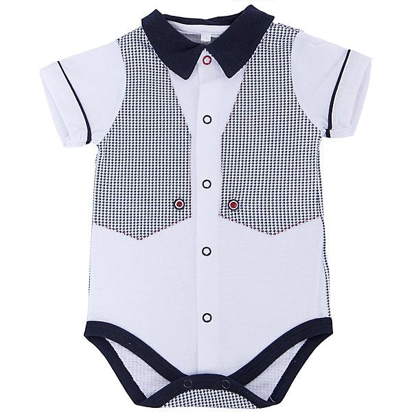 Боди для мальчика Soni KidsБоди<br>Боди для мальчика от популярной марки Soni Kids <br> <br>Стильное боди в черно-белой гамме сшито из мягкого дышащего хлопка. Это гипоаллергенный материал, который отлично подходит для детской одежды. Правильный крой обеспечит ребенку удобство, не будет натирать и стеснять движения. <br> <br>Особенности модели: <br> <br>- цвет - белый; <br>- материал - натуральный хлопок; <br>- черная отделка; <br>- имитация жилета; <br>- мягкая окантовка; <br>- отложной воротник; <br>- рукава короткие, с отделкой; <br>- застежки - кнопки впереди и внизу. <br> <br>Дополнительная информация: <br> <br>Состав: 100% хлопок <br> <br>Боди для мальчика от популярной марки Soni Kids (Сони Кидс) можно купить в нашем магазине.<br>Ширина мм: 157; Глубина мм: 13; Высота мм: 119; Вес г: 200; Цвет: белый/серый; Возраст от месяцев: 12; Возраст до месяцев: 18; Пол: Мужской; Возраст: Детский; Размер: 86,68,74,80,62; SKU: 4545021;