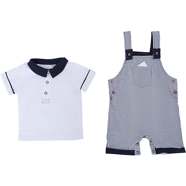 Комплект: футболка и полукомбинезон для мальчика Soni KidsКомплекты<br>Комплект: футболка и полукомбинезон для мальчика от популярной марки Soni Kids <br> <br>Нарядный и удобный набор в черно-белой гамме сшит из мягкого дышащего хлопка. Это гипоаллергенный материал, который отлично подходит для детской одежды. Правильный крой обеспечит ребенку удобство, не будет натирать и стеснять движения. <br> <br>Особенности модели: <br> <br>- цвет - белый, черный; <br>- материал - натуральный хлопок; <br>- на груди - кармашек; <br>- отложной воротник; <br>- рукава короткие, с отделкой; <br>- застежки - кнопки на груди и внизу. <br> <br>Дополнительная информация: <br> <br>Состав: 100% хлопок <br> <br>Комплект: футболка и полукомбинезон для мальчика от популярной марки Soni Kids (Сони Кидс) можно купить в нашем магазине.<br>Ширина мм: 157; Глубина мм: 13; Высота мм: 119; Вес г: 200; Цвет: белый/серый; Возраст от месяцев: 3; Возраст до месяцев: 6; Пол: Мужской; Возраст: Детский; Размер: 68,74,86,80; SKU: 4545051;