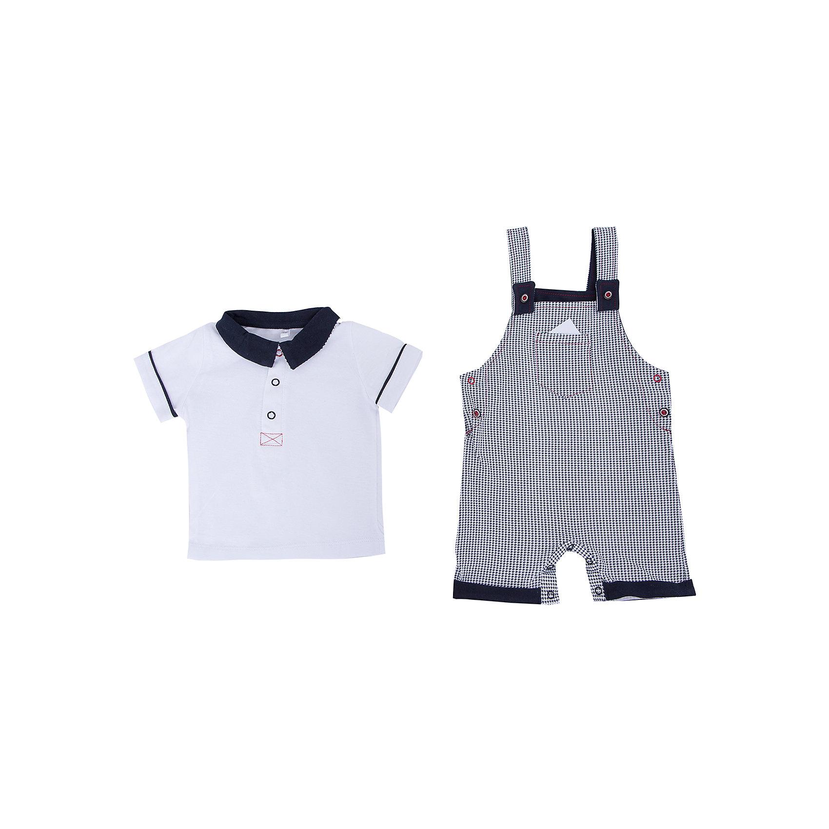 Комплект: футболка и полукомбинезон для мальчика Soni KidsКомплект: футболка и полукомбинезон для мальчика от популярной марки Soni Kids <br> <br>Нарядный и удобный набор в черно-белой гамме сшит из мягкого дышащего хлопка. Это гипоаллергенный материал, который отлично подходит для детской одежды. Правильный крой обеспечит ребенку удобство, не будет натирать и стеснять движения. <br> <br>Особенности модели: <br> <br>- цвет - белый, черный; <br>- материал - натуральный хлопок; <br>- на груди - кармашек; <br>- отложной воротник; <br>- рукава короткие, с отделкой; <br>- застежки - кнопки на груди и внизу. <br> <br>Дополнительная информация: <br> <br>Состав: 100% хлопок <br> <br>Комплект: футболка и полукомбинезон для мальчика от популярной марки Soni Kids (Сони Кидс) можно купить в нашем магазине.<br><br>Ширина мм: 157<br>Глубина мм: 13<br>Высота мм: 119<br>Вес г: 200<br>Цвет: белый/серый<br>Возраст от месяцев: 3<br>Возраст до месяцев: 6<br>Пол: Мужской<br>Возраст: Детский<br>Размер: 68,86,74,80<br>SKU: 4545051