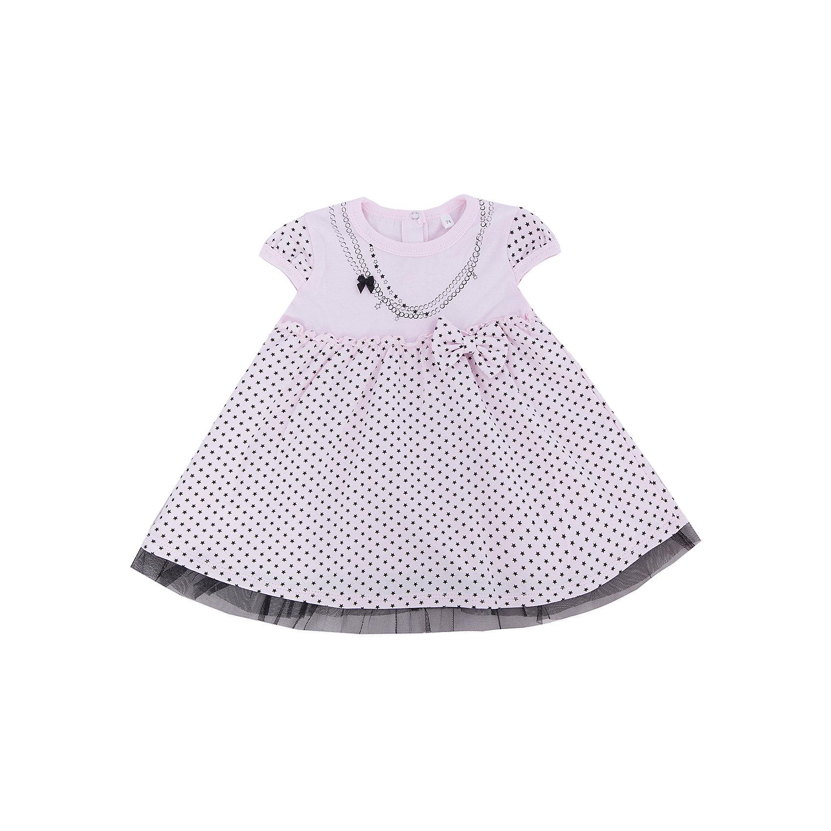 Платье для девочки Soni KidsПлатье для девочки от популярной марки Soni Kids <br> <br>Красивое нежное платье сшито из мягкого дышащего хлопка. Это гипоаллергенный материал, который отлично подходит для детской одежды. Правильный крой обеспечит ребенку удобство, не будет натирать и стеснять движения. <br> <br>Особенности модели: <br> <br>- цвет - белый; <br>- материал - натуральный хлопок; <br>- имитация бус; <br>- крылья на рукавах; <br>- пышный подол; <br>- модель декорирована бантиками; <br>- застежки - кнопки на спине. <br> <br>Дополнительная информация: <br> <br>Состав: 100% хлопок <br> <br>Платье для девочки от популярной марки Soni Kids (Сони Кидс) можно купить в нашем магазине.<br><br>Ширина мм: 157<br>Глубина мм: 13<br>Высота мм: 119<br>Вес г: 200<br>Цвет: розовый<br>Возраст от месяцев: 18<br>Возраст до месяцев: 24<br>Пол: Женский<br>Возраст: Детский<br>Размер: 92,80,74,86<br>SKU: 4545074