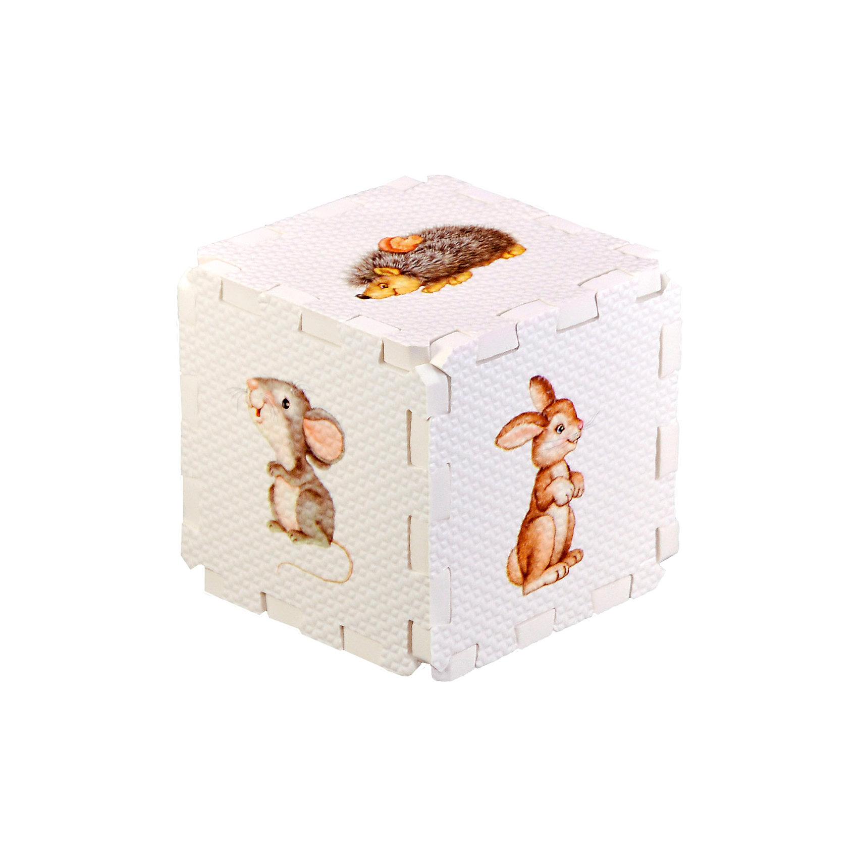 Кубик EVA Лесные животныеПервые книги малыша<br>Набор состоит из 6 больших деталей-пазлов, которые можно собрать в объёмный кубик. Собирая кубик и играя с его деталями, малыши тренируют мелкую моторику, развивают мышление, память, внимание, а также получают навыки творческого конструирования.<br>Детали-пазлы сделаны из экологически чистого и гипоаллергенного материала ЭВА (EVA), который не имеет цвета, запаха и вкуса, а значит, идеально подходит для первых развивающих игрушек и игр.<br>Особенности пазлов ЭВА открывают дополнительные возможности для различных игровых сюжетов:<br>- детали-пазлы можно грызть, мять, гнуть, сжимать и мочить, и при этом они не испортятся; <br>- с набором можно играть в воде, детали плавают и легко крепятся к кафелю и стенкам ванны; <br>- уникальная технология печати картинок на пазлах передаёт все оттенки цветов, и дети быстрее учатся узнавать нарисованные на них предметы в окружающем мире; <br>- набор идеально подходит для развития детской моторики, сенсорики, навыков конструирования; <br>- детали-пазлы из разных наборов подходят к друг другу, вы легко можете комбинировать разные наборы.<br><br>Дополнительная информация:<br><br>- Материал: ЭВА.<br>- Размер: 25,5х24 см. <br>- Толщина детали-пазла: 3 см. <br>- Комплектация: 6 деталей.<br>- Детали-пазлы подходят к другим наборам. <br>- Используются стойкие гипоаллергенный красители.<br>- Подходит для игр в воде. <br><br>Кубик EVA - сортер Лесные животные можно купить в нашем магазине.<br><br>Ширина мм: 255<br>Глубина мм: 240<br>Высота мм: 10<br>Вес г: 72<br>Возраст от месяцев: 12<br>Возраст до месяцев: 36<br>Пол: Унисекс<br>Возраст: Детский<br>SKU: 4545589