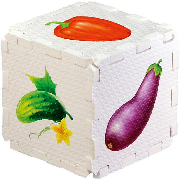 Кубик EVA ОвощиПервые книги малыша<br>Набор состоит из 6 больших деталей-пазлов, которые можно собрать в объёмный кубик. Собирая кубик и играя с его деталями, малыши тренируют мелкую моторику, развивают мышление, память, внимание, а также получают навыки творческого конструирования.<br>Детали-пазлы сделаны из экологически чистого и гипоаллергенного материала ЭВА (EVA), который не имеет цвета, запаха и вкуса, а значит, идеально подходит для первых развивающих игрушек и игр.<br>Особенности пазлов ЭВА открывают дополнительные возможности для различных игровых сюжетов:<br>- детали-пазлы можно грызть, мять, гнуть, сжимать и мочить, и при этом они не испортятся; <br>- с набором можно играть в воде, детали плавают и легко крепятся к кафелю и стенкам ванны; <br>- уникальная технология печати картинок на пазлах передаёт все оттенки цветов, и дети быстрее учатся узнавать нарисованные на них предметы в окружающем мире; <br>- набор идеально подходит для развития детской моторики, сенсорики, навыков конструирования; <br>- детали-пазлы из разных наборов подходят к друг другу, вы легко можете комбинировать разные наборы.<br><br>Дополнительная информация:<br><br>- Материал: ЭВА.<br>- Размер: 25,5х24 см. <br>- Толщина детали-пазла: 3 см. <br>- Комплектация: 6 деталей.<br>- Детали-пазлы подходят к другим наборам. <br>- Используются стойкие гипоаллергенный красители.<br>- Подходит для игр в воде. <br><br>Кубик EVA - сортер Овощи можно купить в нашем магазине.<br><br>Ширина мм: 255<br>Глубина мм: 240<br>Высота мм: 10<br>Вес г: 72<br>Возраст от месяцев: 12<br>Возраст до месяцев: 36<br>Пол: Унисекс<br>Возраст: Детский<br>SKU: 4545590