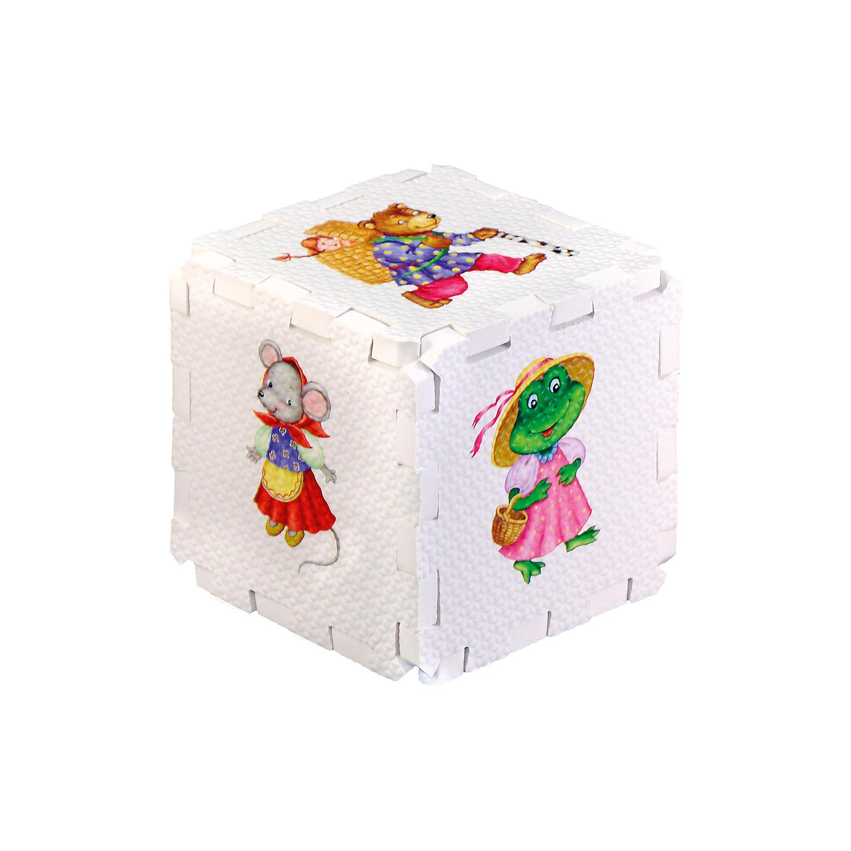 Кубик EVA Сказочные животныеНабор состоит из 6 больших деталей-пазлов, которые можно собрать в объёмный кубик. Собирая кубик и играя с его деталями, малыши тренируют мелкую моторику, развивают мышление, память, внимание, а также получают навыки творческого конструирования.<br>Детали-пазлы сделаны из экологически чистого и гипоаллергенного материала ЭВА (EVA), который не имеет цвета, запаха и вкуса, а значит, идеально подходит для первых развивающих игрушек и игр.<br>Особенности пазлов ЭВА открывают дополнительные возможности для различных игровых сюжетов:<br>- детали-пазлы можно грызть, мять, гнуть, сжимать и мочить, и при этом они не испортятся; <br>- с набором можно играть в воде, детали плавают и легко крепятся к кафелю и стенкам ванны; <br>- уникальная технология печати картинок на пазлах передаёт все оттенки цветов, и дети быстрее учатся узнавать нарисованные на них предметы в окружающем мире; <br>- набор идеально подходит для развития детской моторики, сенсорики, навыков конструирования; <br>- детали-пазлы из разных наборов подходят к друг другу, вы легко можете комбинировать разные наборы.<br><br>Дополнительная информация:<br><br>- Материал: ЭВА.<br>- Размер: 25,5х24 см. <br>- Толщина детали-пазла: 3 см. <br>- Комплектация: 6 деталей.<br>- Детали-пазлы подходят к другим наборам. <br>- Используются стойкие гипоаллергенный красители.<br>- Подходит для игр в воде. <br><br>Кубик EVA - сортер Сказочные животные можно купить в нашем магазине.<br><br>Ширина мм: 255<br>Глубина мм: 240<br>Высота мм: 10<br>Вес г: 72<br>Возраст от месяцев: 12<br>Возраст до месяцев: 36<br>Пол: Унисекс<br>Возраст: Детский<br>SKU: 4545591