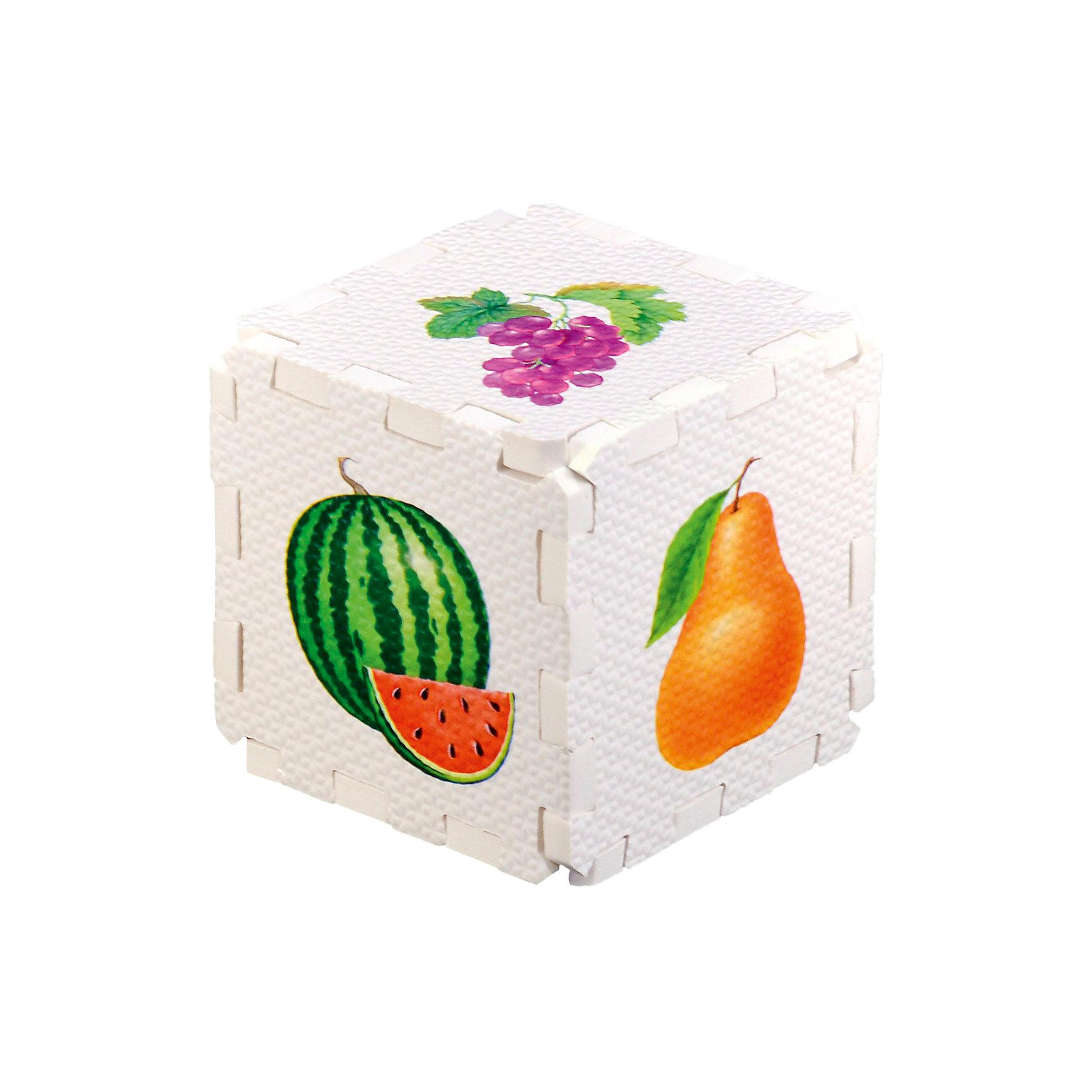 Кубик EVA Фрукты и ягодыПервые книги малыша<br>Набор состоит из 6 больших деталей-пазлов, которые можно собрать в объёмный кубик. Собирая кубик и играя с его деталями, малыши тренируют мелкую моторику, развивают мышление, память, внимание, а также получают навыки творческого конструирования.<br>Детали-пазлы сделаны из экологически чистого и гипоаллергенного материала ЭВА (EVA), который не имеет цвета, запаха и вкуса, а значит, идеально подходит для первых развивающих игрушек и игр.<br>Особенности пазлов ЭВА открывают дополнительные возможности для различных игровых сюжетов:<br>- детали-пазлы можно грызть, мять, гнуть, сжимать и мочить, и при этом они не испортятся; <br>- с набором можно играть в воде, детали плавают и легко крепятся к кафелю и стенкам ванны; <br>- уникальная технология печати картинок на пазлах передаёт все оттенки цветов, и дети быстрее учатся узнавать нарисованные на них предметы в окружающем мире; <br>- набор идеально подходит для развития детской моторики, сенсорики, навыков конструирования; <br>- детали-пазлы из разных наборов подходят к друг другу, вы легко можете комбинировать разные наборы.<br><br>Дополнительная информация:<br><br>- Материал: ЭВА.<br>- Размер: 25,5х24 см. <br>- Толщина детали-пазла: 3 см. <br>- Комплектация: 6 деталей.<br>- Детали-пазлы подходят к другим наборам. <br>- Используются стойкие гипоаллергенный красители.<br>- Подходит для игр в воде. <br><br>Кубик EVA - сортер Фрукты и ягоды можно купить в нашем магазине.<br><br>Ширина мм: 255<br>Глубина мм: 240<br>Высота мм: 10<br>Вес г: 72<br>Возраст от месяцев: 12<br>Возраст до месяцев: 36<br>Пол: Унисекс<br>Возраст: Детский<br>SKU: 4545592