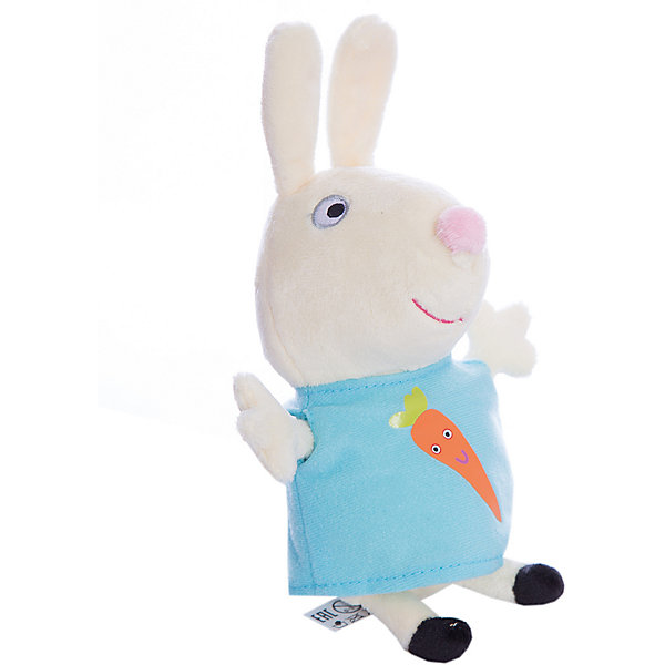 Мягкая игрушка Ребекка с морковью, 20см, Свинка ПеппаМягкие игрушки из мультфильмов<br>Ваш малыш любит мультфильм «Свинка Пеппа»? Тогда он обязательно оценит игрушку в виде Кролика Ребекки, с которой можно весело играть, развивая навыки общения и воображение. А если приобрести других персонажей из серии «Peppa Pig», то все игры станут во много раз увлекательнее. <br>С любимой игрушкой малютка будет делиться своими маленькими секретиками и безмятежно спать ночью – ведь в обнимку с плюшевым другом сон гораздо слаще!<br><br>Дополнительная информация:<br><br>Мягкая игрушка «Кролик Ребекка» имеет высоту 20 см (размер указан с ножками) и очень приятна на ощупь, так как изготовлена из нежной велюровой ткани и плотно набита. Глазки, носик и ротик Ребекки выполнены в виде плотной вышивки, а на ее платьице красуется яркая аппликация в виде морковки.<br><br>Мягкую игрушку Ребекка с морков, 20см, Свинка Пеппа (Peppa Pig) можно купить в нашем магазине.<br>Ширина мм: 110; Глубина мм: 80; Высота мм: 200; Вес г: 56; Возраст от месяцев: 36; Возраст до месяцев: 72; Пол: Унисекс; Возраст: Детский; SKU: 4545611;