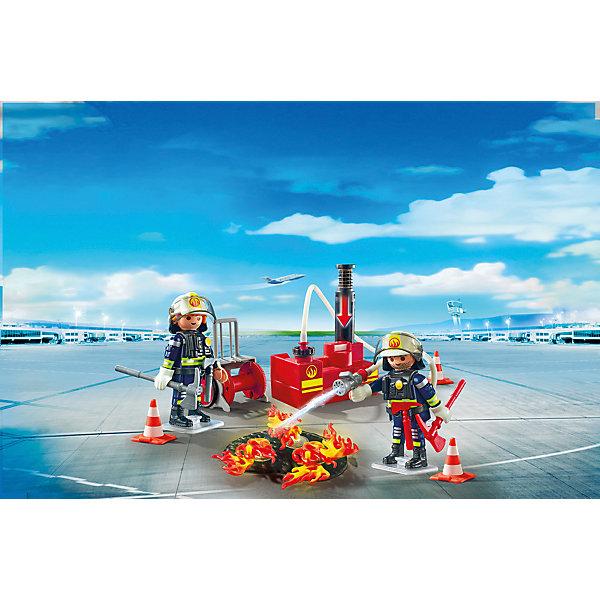 Конструктор Playmobil Городской Аэропорт Операция по тушению пожара с водяным насосомПластмассовые конструкторы<br>Характеристики товара:<br><br>• возраст: от 4 лет;<br>• материал: пластик;<br>• в комплекте: 2 фигурки, водяная помпа, аксессуары;<br>• высота фигурки: 7,5 см;<br>• размер упаковки: 24,8х18,7х7,2 см;<br>• вес упаковки: 240 гр.;<br>• страна бренда: Германия.<br><br>Игровой набор «Городской аэропорт: Операция по тушению пожара с водяным насосом» Playmobil включает в себя фигурки пожарных, которые тушат пожары в чрезвычайных ситуациях. Один из интересных элементов набора — помпа с насосом и шлангом, при помощи которой можно имитировать процесс тушения пожара.<br><br>Игровой набор «Городской аэропорт: Операция по тушению пожара с водяным насосом» Playmobil можно приобрести в нашем интернет-магазине.<br>Ширина мм: 253; Глубина мм: 190; Высота мм: 78; Вес г: 235; Возраст от месяцев: 48; Возраст до месяцев: 120; Пол: Унисекс; Возраст: Детский; SKU: 4546147;