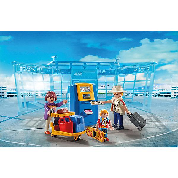 Конструктор Playmobil Городской Аэропорт Семья на регистрацииПластмассовые конструкторы<br>Характеристики товара:<br><br>• возраст: от 4 лет;<br>• материал: пластик;<br>• в комплекте: 3 фигурки, банкомат, погрузчик, аксессуары;<br>• высота фигурки: 7,5 см;<br>• высота фигурки мальчика: 5,25 см;<br>• размер упаковки: 14,2х18,7х7,2 см;<br>• вес упаковки: 198 гр.;<br>• страна бренда: Германия.<br><br>Игровой набор «Городской аэропорт: Семья на регистрации» Playmobil включает в себя фигурку членов семьи, отправляющихся в путешествие. Весь багаж они везут на специальных погрузчиках для чемоданов. В наборе есть банкомат, где можно снять деньги. Банкомат открывается, туда можно вставить деньги или карточку. У фигурок имеются подвижные детали.<br><br>Игровой набор «Городской аэропорт: Семья на регистрации» Playmobil можно приобрести в нашем интернет-магазине.<br>Ширина мм: 191; Глубина мм: 146; Высота мм: 76; Вес г: 167; Возраст от месяцев: 48; Возраст до месяцев: 120; Пол: Унисекс; Возраст: Детский; SKU: 4546149;