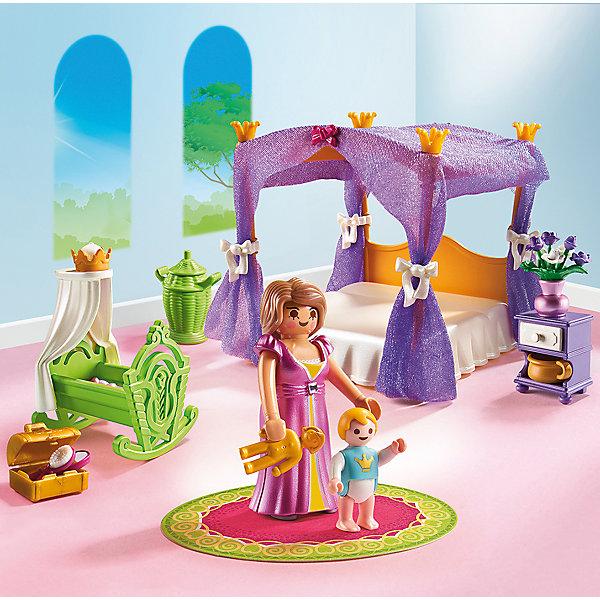 RU Замок Принцессы: Покои Принцессы с колыбелью PlaymobilВне категории - РМА<br>Спи мой ребенок ..., - королева кладет маленького принца обратно в колыбель. Он просто заснул. Хороший шанс также немного вздремнуть. Королева думает и молча на цыпочках крадется к кровати с балдахином. Под фиолетовым навесом она мирно дремлет.<br>Ширина мм: 191; Глубина мм: 187; Высота мм: 76; Вес г: 210; Возраст от месяцев: 48; Возраст до месяцев: 120; Пол: Женский; Возраст: Детский; SKU: 4546164;