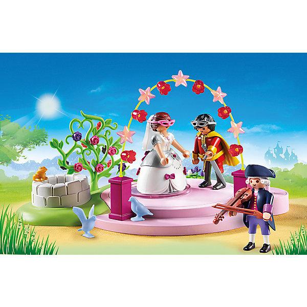 Конструктор Playmobil Замок Принцессы Маскарадный балПластмассовые конструкторы<br>Характеристики товара:<br><br>• возраст: от 4 лет;<br>• материал: пластик;<br>• в комплекте: 3 фигурки, сцена, аксессуары;<br>• высота фигурки: 7,5 см;<br>• размер упаковки: 18,7х28,5х7,4 см;<br>• вес упаковки: 444 гр.;<br>• страна бренда: Германия.<br><br>Игровой набор «Замок Принцессы: Маскарадный бал» Playmobil включает в себя фигурки принца и принцессы, которые отправились на королевский бал-маскарад. На них надеты праздничные костюмы и необходимый атрибут маскарада — маски. Все наборы данной серии прекрасно сочетаются друг с другом. <br><br>Игровой набор «Замок Принцессы: Маскарадный бал» Playmobil можно приобрести в нашем интернет-магазине.<br>Ширина мм: 287; Глубина мм: 185; Высота мм: 76; Вес г: 403; Возраст от месяцев: 48; Возраст до месяцев: 120; Пол: Женский; Возраст: Детский; SKU: 4546166;
