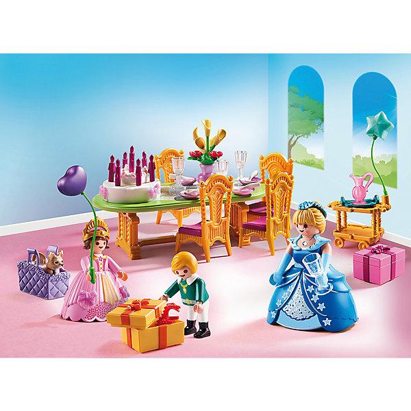 Конструктор Playmobil Замок Принцессы Королевский день рождениеПластмассовые конструкторы<br>Характеристики товара:<br><br>• возраст: от 4 лет;<br>• материал: пластик;<br>• в комплекте: 3 фигурки, аксессуары;<br>• высота фигурки: 7,5 см;<br>• высота фигурок детей: 5,25 см;<br>• размер упаковки: 18,7х24,8х7,2 см;<br>• вес упаковки: 280 гр.;<br>• страна бренда: Германия.<br><br>Игровой набор «Замок Принцессы: Королевский день рождение» Playmobil включает в себя фигурки няни и детей. Малышка-принцесса празднует свое день рождение, ей подарили много подарков. Она подготовилась к празднику: украсила комнату и надела самое красивое платье. Все наборы данной серии сочетаются друг с другом.<br><br>Игровой набор «Замок Принцессы: Королевский день рождение» Playmobil можно приобрести в нашем интернет-магазине.<br>Ширина мм: 253; Глубина мм: 190; Высота мм: 76; Вес г: 263; Возраст от месяцев: 48; Возраст до месяцев: 120; Пол: Женский; Возраст: Детский; SKU: 4546167;