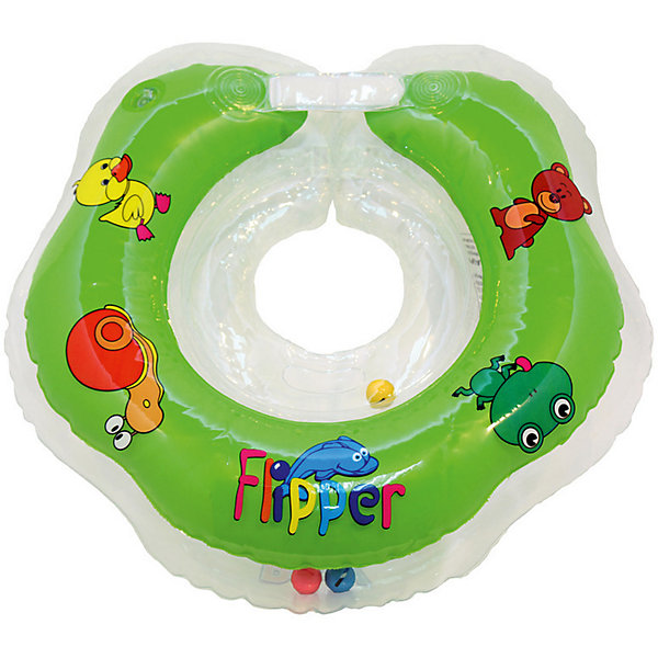Круг на шею Flipper FL001 для купания малышей 0+, Roxy-Kids, зеленыйТовары для купания<br>Круг на шею Flipper FL001, Roxy-Kids, обеспечит безопасность и комфорт Вашего ребенка во время купания и активных игр в воде. Может использоваться в ванной или для бассейна и на море. Круг выполнен из прочного полимера, имеет яркий привлекательный дизайн и полностью безопасен для детей. Оснащен двумя воздушными камерами, в которых находятся шарики-погремушки, комфортной выемкой для подбородка и ручками, благодаря которым родители смогут контролировать малыша. Дополнительная безопасность круга обеспечивается особой конструкцией круг в круге. Мягкий шов не натирает шею малыша благодаря технологии внутреннего шва. Две практичные регулируемые застежки (карабин и липучка) позволяют быстро и легко зафиксировать круг во время купания. Рассчитан на детей от 0 до 2 лет, весом до 18 кг.<br><br>Дополнительная информация:<br><br>- Цвет: зеленый/лужайка.<br>- Материал: ПВХ.<br>- Размер круга: 39 х 36 см.<br>- Размер упаковки: 15 х 5 х 15 см.<br>- Вес: 0,3 кг.<br><br>Круг на шею Flipper FL001 для купания малышей 0+, Roxy-Kids, зеленый, можно купить в нашем интернет-магазине.<br>Ширина мм: 150; Глубина мм: 50; Высота мм: 150; Вес г: 300; Цвет: зеленый; Возраст от месяцев: 0; Возраст до месяцев: 18; Пол: Унисекс; Возраст: Детский; SKU: 4546381;