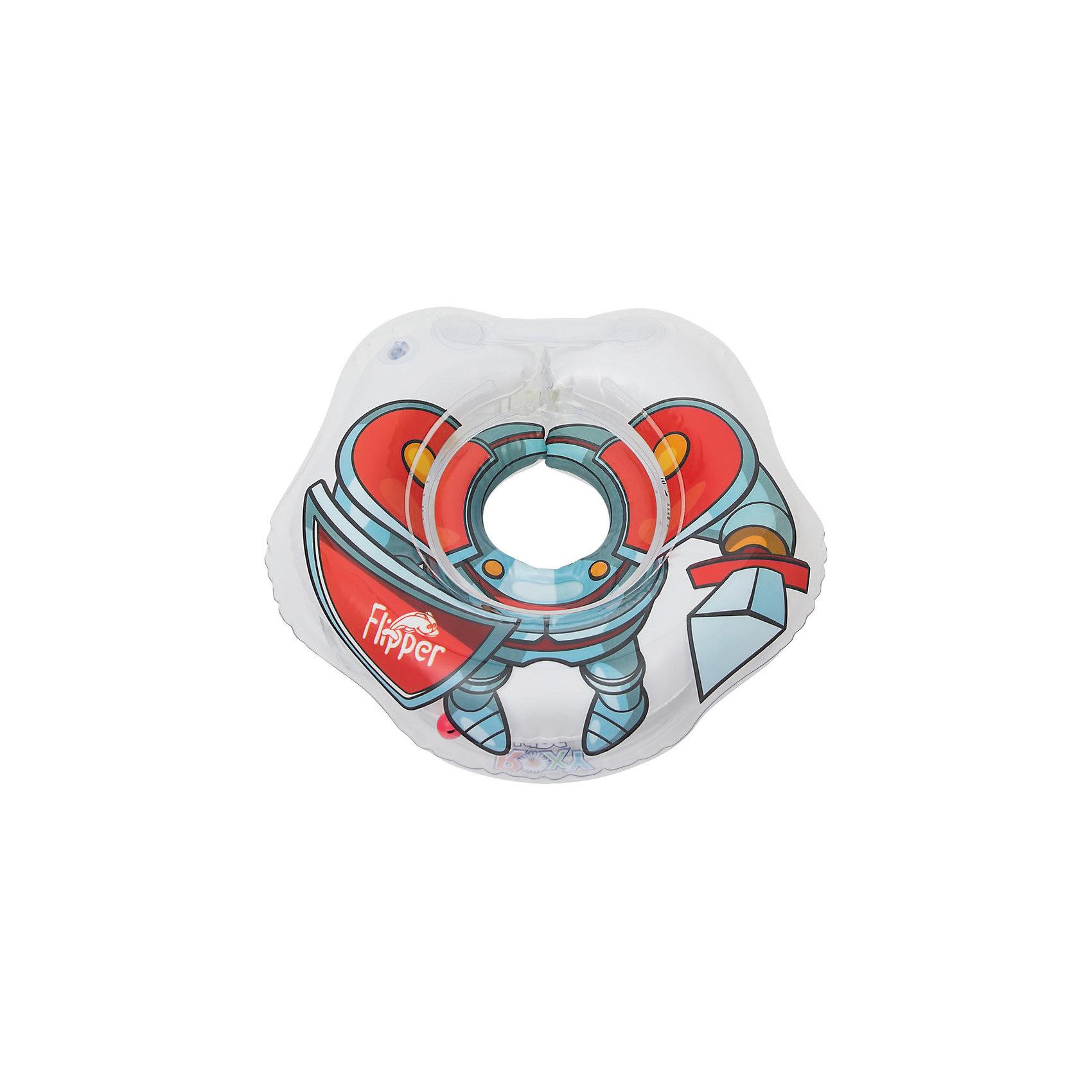 Круг на шею Flipper для купания малышей 0+ Рыцарь, Roxy-KidsКруги для купания малыша<br>Круг на шею Flipper Рыцарь, Roxy-Kids, обеспечит безопасность и комфорт Вашего малыша во время купания и активных игр в воде. Может использоваться в ванной или для бассейна и на море. Круг выполнен из прочного полимера, имеет яркий привлекательный дизайн в виде фигуры рыцаря и полностью безопасен для детей. Оснащен двумя воздушными камерами, в которых находятся шарики-погремушки, комфортной выемкой для подбородка и ручками, благодаря которым родители смогут контролировать малыша. Дополнительная безопасность круга обеспечивается особой конструкцией круг в круге. Мягкий шов не натирает шею малыша благодаря технологии внутреннего шва. Две практичные регулируемые застежки (карабин и липучка) позволяют быстро и легко зафиксировать круг во время купания. Рассчитан на детей от 0 до 2 лет, весом до 18 кг.<br><br>Дополнительная информация:<br><br>- Материал: ПВХ.<br>- Размер круга: 39 х 36 см.<br>- Размер упаковки: 15 х 5 х 15 см.<br>- Вес: 0,3 кг.<br><br>Круг на шею Flipper для купания малышей 0+ Рыцарь, Roxy-Kids, можно купить в нашем интернет-магазине.<br><br>Ширина мм: 150<br>Глубина мм: 50<br>Высота мм: 150<br>Вес г: 300<br>Цвет: синий<br>Возраст от месяцев: 0<br>Возраст до месяцев: 18<br>Пол: Мужской<br>Возраст: Детский<br>SKU: 4546384
