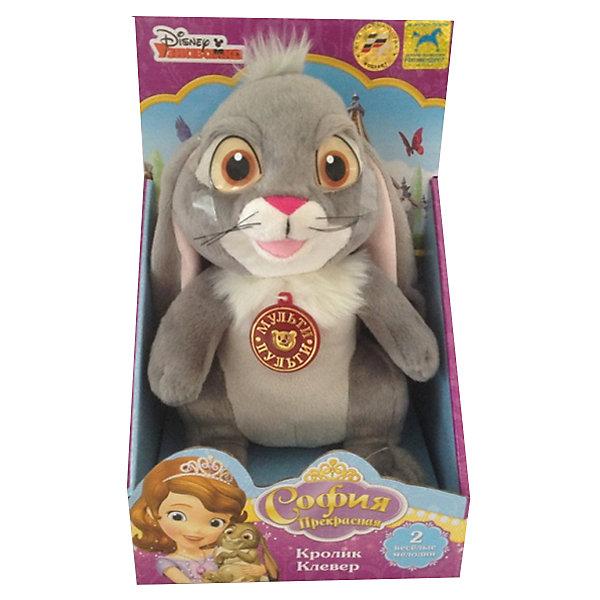 Мягкая игрушка Кролик Клевер, София Прекрасная, МУЛЬТИ-ПУЛЬТИМягкие игрушки из мультфильмов<br>Мягкая игрушка Кролик Клевер, София Прекрасная, придется по душе всем юным поклонницам популярного мультсериала София Прекрасная. Кролик Клевер - любимый питомец и друг принцессы Софии, который помогает ей справиться со всеми трудностями. Внешний вид игрушки полностью соответствует своему мультперсонажу. У кролика мягкая, приятная на ощупь серая шерстка и забавная дружелюбная мордочка. Игрушка озвучена - нажав ей на животик, можно услышать две веселые мелодии. Симпатичный кролик станет замечательным другом Вашему ребенку, игрушка способствует развитию фантазии, воображения, тактильного восприятия и мелкой моторики.<br><br>Дополнительная информация:<br><br>- Материал: текстиль.<br>- Требуются батарейки: 3 х AA (входят в комплект).<br>- Размер игрушки: 22 см.<br>- Размер упаковки: 27 х 18 х 14 см.<br>- Вес: 0,42 кг.<br><br>Мягкую игрушку Кролик Клевер, София Прекрасная, Мульти-Пульти, можно купить в нашем интернет-магазине.<br><br>Ширина мм: 180<br>Глубина мм: 270<br>Высота мм: 140<br>Вес г: 420<br>Возраст от месяцев: 36<br>Возраст до месяцев: 144<br>Пол: Унисекс<br>Возраст: Детский<br>SKU: 4546569
