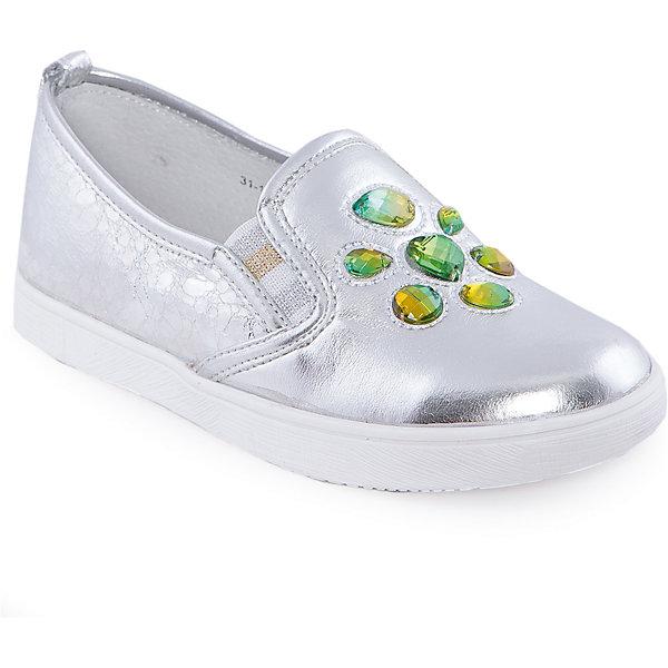 Слипоны для девочки Indigo kidsСлипоны<br>Мокасины для девочки от известного бренда Indigo kids <br> <br>Оригинальные блестящие мокасины прекрасно разнообразят гардероб девочки весной и летом. Они очень оригинально и стильно смотрятся! Подойдут и к джинсам, и к юбке! Мокасины легко надеваются, комфортно садятся по ноге, дают коже дышать. <br> <br>Особенности модели: <br> <br>- цвет: серебристый; <br>- стильный дизайн; <br>- удобная колодка; <br>- каблук: нет; <br>- подкладка из натуральной кожи; <br>- передняя часть украшена искусственными драгоценными камнями; <br>- задняя часть из кожи с фактурной имитацией леопардового рисунка; <br>- устойчивая нескользящая подошва; <br>- без застежки. <br> <br>Дополнительная информация: <br> <br>Состав: <br> <br>верх – искусственная кожа; <br>подкладка - натуральная кожа; <br>подошва - ТЭП. <br> <br>Мокасины для девочки Indigo kids (Индиго Кидс) можно купить в нашем магазине.<br>Ширина мм: 227; Глубина мм: 145; Высота мм: 124; Вес г: 325; Цвет: серебряный; Возраст от месяцев: 132; Возраст до месяцев: 144; Пол: Женский; Возраст: Детский; Размер: 35,36,31,32,33,34; SKU: 4547775;