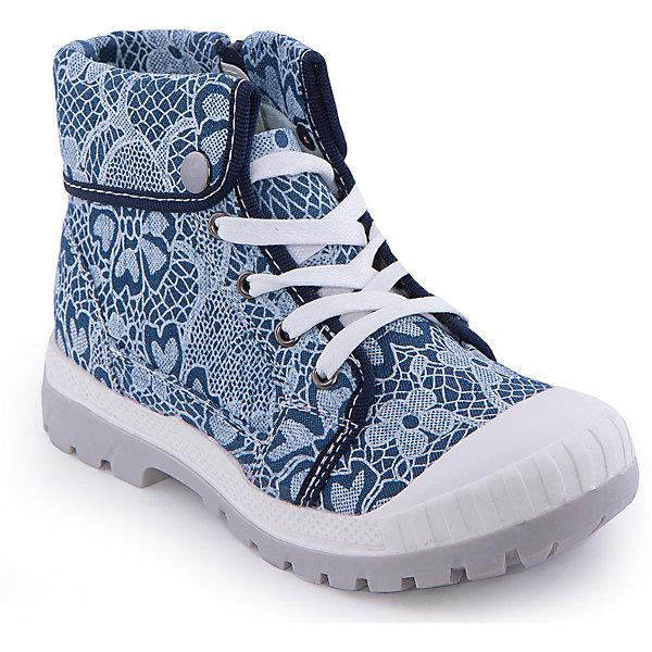 Ботинки для девочки Indigo kidsБотинки<br>Ботинки для девочки от известного бренда Indigo kids <br> <br>Оригинальные ботинки с завышенным голенищем созданы для прохладной погоды. Они очень стильно смотрятся куртками и плащами. Ботинки легко надеваются, комфортно садятся по ноге, дают коже дышать. <br> <br>Особенности модели: <br> <br>- цвет: синий; <br>- стильный дизайн; <br>- удобная колодка; <br>- каблук: небольшой; <br>- защита пальцев; <br>- декорированы принтом, контрастной окантовкой; <br>- устойчивая нескользящая подошва; <br>- застежка: шнуровка и молния. <br> <br>Дополнительная информация: <br> <br>Состав: <br> <br>верх – текстиль; <br>подкладка - текстиль; <br>подошва - ТЭП. <br> <br>Температурный режим: <br>от +5°С до +20°С <br> <br>Ботинки для девочки Indigo kids (Индиго Кидс) можно купить в нашем магазине.<br>Ширина мм: 262; Глубина мм: 176; Высота мм: 97; Вес г: 427; Цвет: синий; Возраст от месяцев: 120; Возраст до месяцев: 132; Пол: Женский; Возраст: Детский; Размер: 34,33,32,35,37,36; SKU: 4547859;