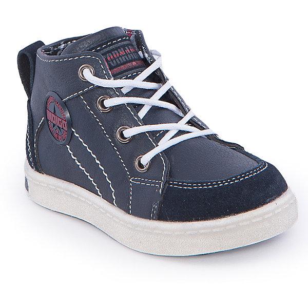 Ботинки для девочки Indigo kidsБотинки<br>Ботинки для мальчика от известного бренда Indigo kids <br> <br>Оригинальные ботинки с завышенным голенищем созданы для прохладной погоды. Они очень стильно смотрятся. Ботинки легко надеваются, комфортно садятся по ноге, дают коже дышать. <br> <br>Особенности модели: <br> <br>- цвет: синий; <br>- стильный дизайн; <br>- удобная колодка; <br>- каблук; <br>- двойная контрастная прошивка; <br>- декорированы нашивкой; <br>- устойчивая нескользящая подошва; <br>- застежка: шнуровка и молния. <br> <br>Дополнительная информация: <br> <br>Состав: <br> <br>верх – искусственная кожа; <br>подкладка - текстиль; <br>подошва - ТЭП. <br> <br>Температурный режим: <br>от +5°С до +20°С <br> <br>Ботинки для мальчика Indigo kids (Индиго Кидс) можно купить в нашем магазине.<br><br>Ширина мм: 262<br>Глубина мм: 176<br>Высота мм: 97<br>Вес г: 427<br>Цвет: синий<br>Возраст от месяцев: 15<br>Возраст до месяцев: 18<br>Пол: Мужской<br>Возраст: Детский<br>Размер: 22,27,23,24,25,26<br>SKU: 4547873