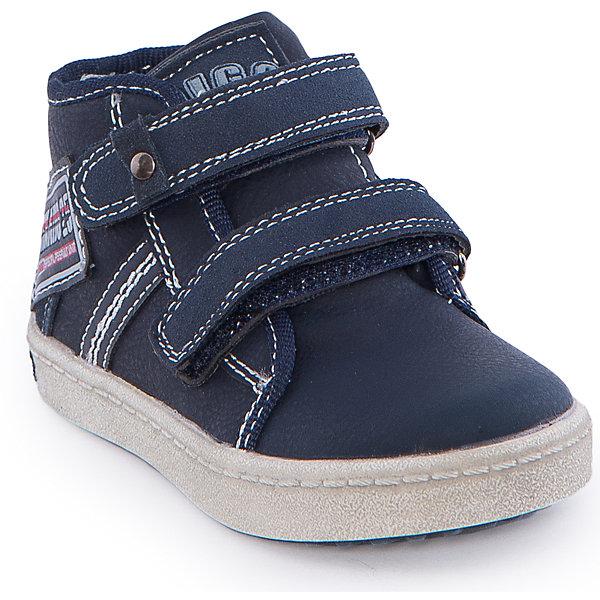 Ботинки для мальчика Indigo kidsОбувь для малышей<br>Ботинки для мальчика от известного бренда Indigo kids <br> <br>Оригинальные ботинки с завышенным голенищем созданы для прохладной погоды. Они очень стильно смотрятся. Ботинки легко надеваются, комфортно садятся по ноге, дают коже дышать. <br> <br>Особенности модели: <br> <br>- цвет: синий; <br>- стильный дизайн; <br>- удобная колодка; <br>- каблук; <br>- двойная контрастная прошивка; <br>- декорированы нашивкой; <br>- устойчивая нескользящая подошва; <br>- застежка: шнуровка и молния. <br> <br>Дополнительная информация: <br> <br>Состав: <br> <br>верх – искусственная кожа; <br>подкладка - текстиль; <br>подошва - ТЭП. <br> <br>Температурный режим: <br>от +5°С до +20°С <br> <br>Ботинки для мальчика Indigo kids (Индиго Кидс) можно купить в нашем магазине.<br><br>Ширина мм: 262<br>Глубина мм: 176<br>Высота мм: 97<br>Вес г: 427<br>Цвет: синий<br>Возраст от месяцев: 18<br>Возраст до месяцев: 21<br>Пол: Мужской<br>Возраст: Детский<br>Размер: 23,27,25,24,22,26<br>SKU: 4547880