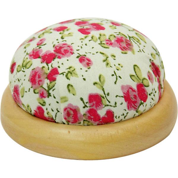 Игольница-подушечка Розовые цветы 7,3*4,5 смШитьё<br>Игольница-подушечка - прекрасный подарок, который понравится любой рукодельнице! Игольница выполнена из прочного текстильного материала, украшенного нежным цветочным принтом. Подставка из дерева удобная и устойчивая. Прекрасный вариант для памятного сувенира!<br><br>Дополнительная информация:<br><br>- Материал: синтетический хлопок, полиэстер, древесина вишни.<br>- Размер: 7,3х4,5 см.<br><br>Игольницу-подушечку Розовые цветы, 7,3х4,5 см, можно купить в нашем магазине.<br><br>Ширина мм: 73<br>Глубина мм: 45<br>Высота мм: 45<br>Вес г: 50<br>Возраст от месяцев: 108<br>Возраст до месяцев: 2147483647<br>Пол: Женский<br>Возраст: Детский<br>SKU: 4548393
