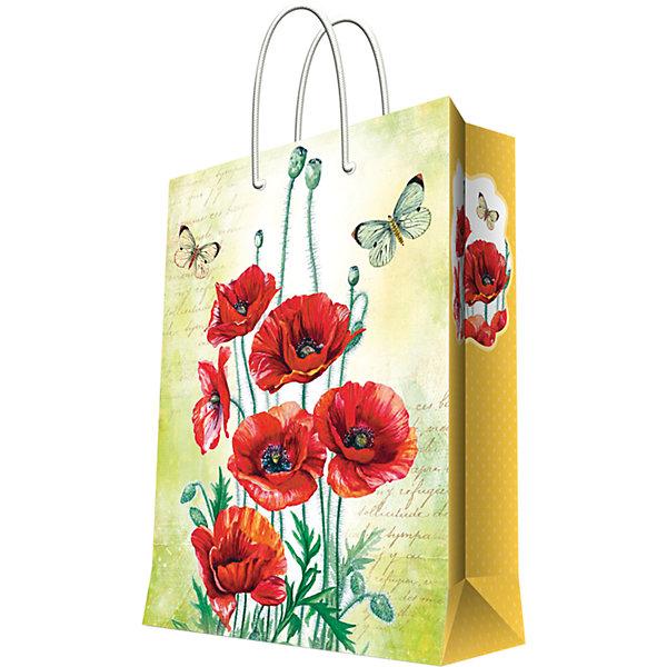 Подарочный пакет Маки 26*32,4*12,7 смДетские подарочные пакеты<br>Красиво упакованный подарок приятно получать вдвойне! Прочный красивый бумажный пакет станет прекрасным дополнением к подарку.<br><br>Дополнительная информация:<br><br>- Материал: бумага (плотность бумаги 140 г/м2).<br>- Размер: 26х32,4х12,7 cм.<br>- Ширина основания: 26 см.<br>- Эффект: ламинация.<br><br>Подарочный пакет Маки 26х32,4х12,7 см, можно купить в нашем магазине.<br>Ширина мм: 260; Глубина мм: 324; Высота мм: 127; Вес г: 100; Возраст от месяцев: 36; Возраст до месяцев: 2147483647; Пол: Женский; Возраст: Детский; SKU: 4548399;