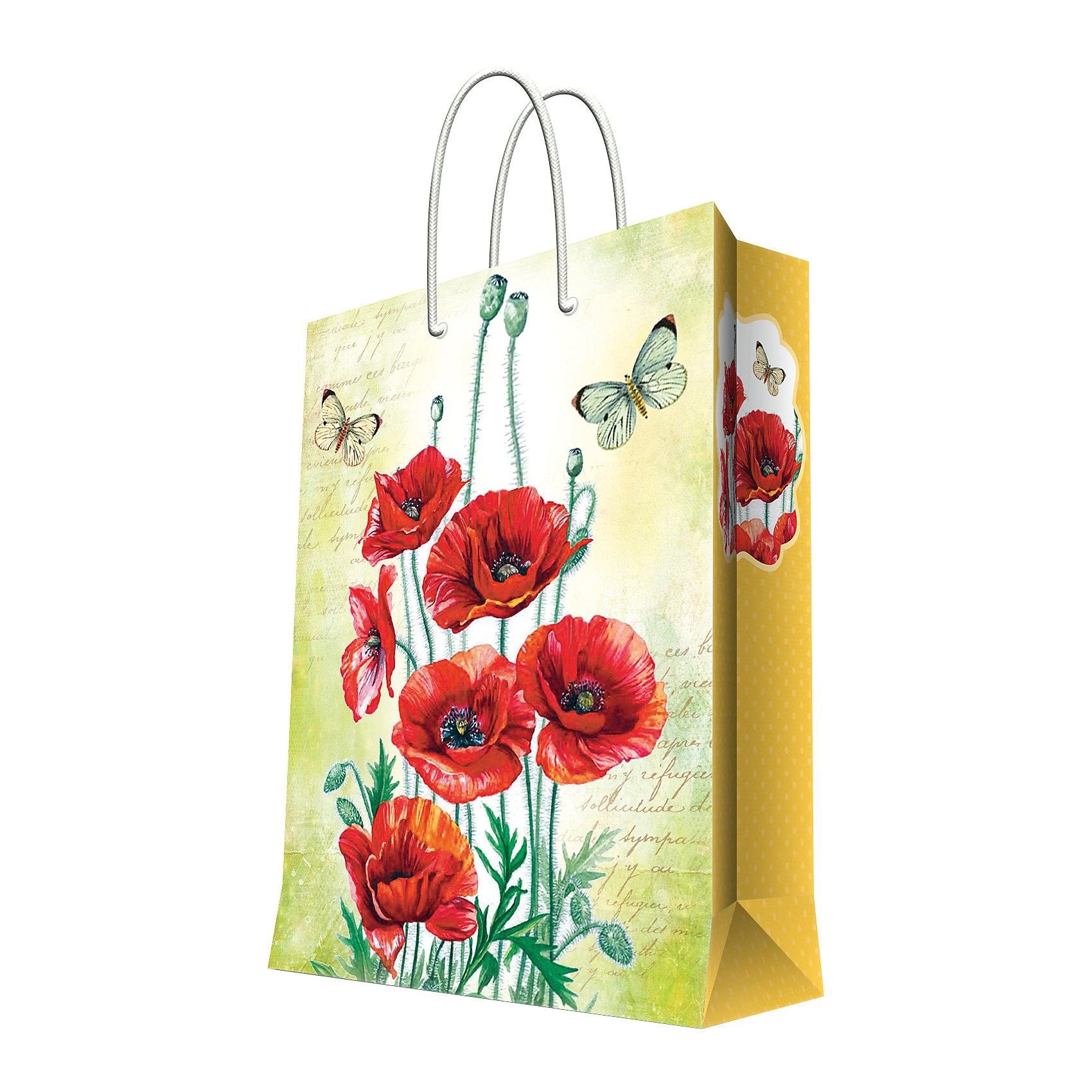 Феникс-Презент Подарочный пакет Маки 26*32,4*12,7 см magic time подарочный пакет новогодняя лампа 26 32 4 12 7 см