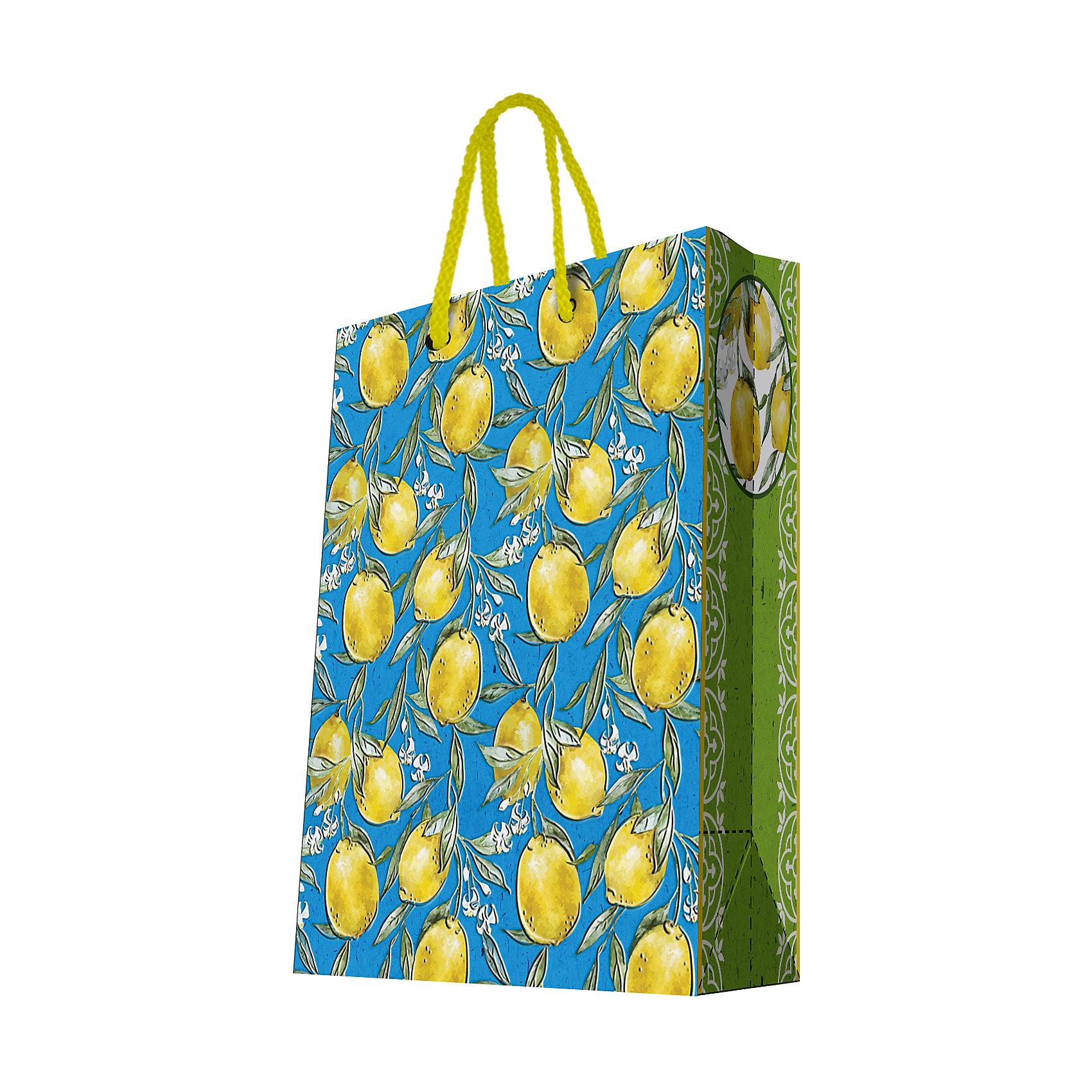 Феникс-Презент Подарочный пакет Лимоны 26*32,4*12,7 см феникс презент подарочный пакет лимоны 26 32 4 12 7 см