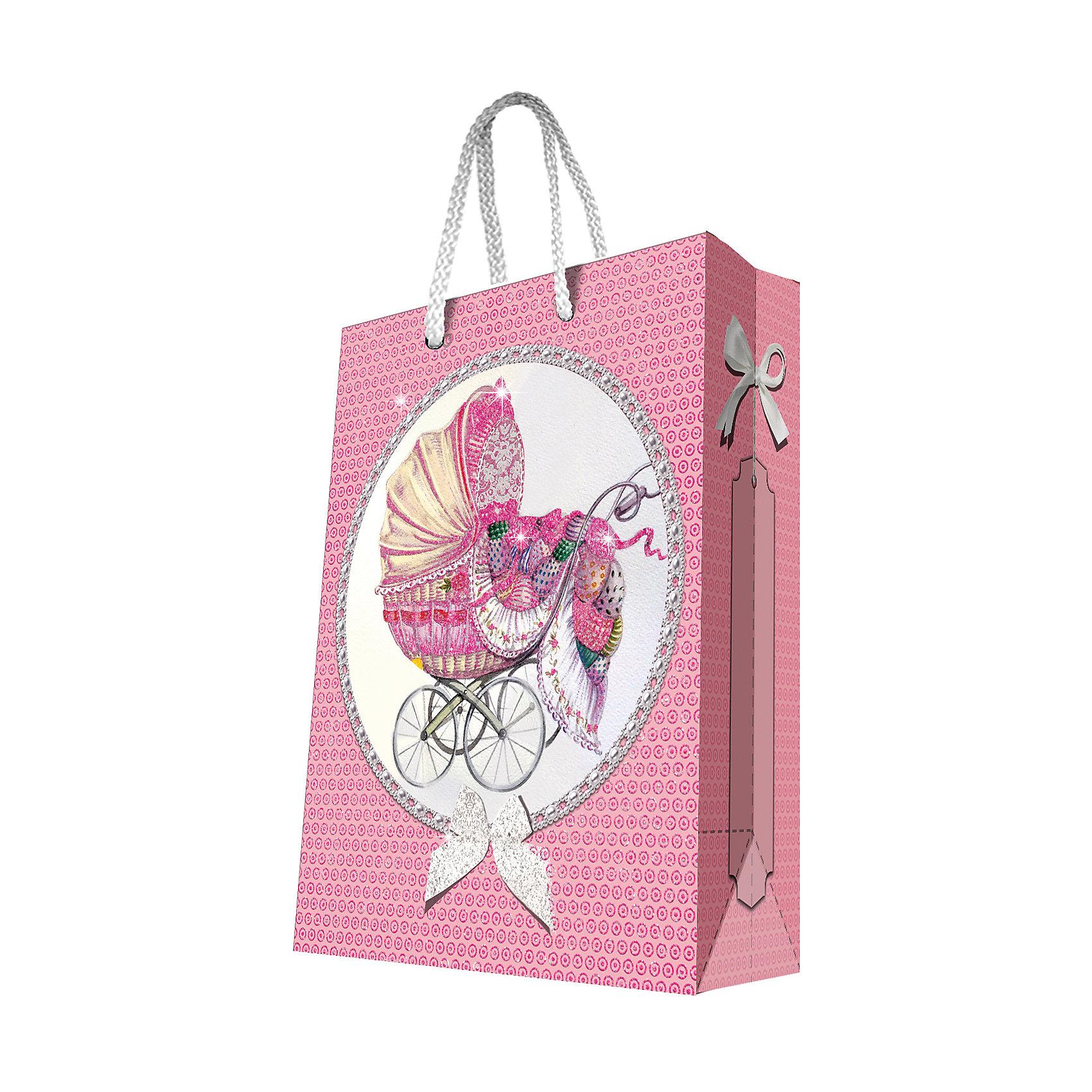 Феникс-Презент Подарочный пакет Ретро-коляска 26*32,4*12,7 см феникс презент подарочный пакет лимоны 26 32 4 12 7 см
