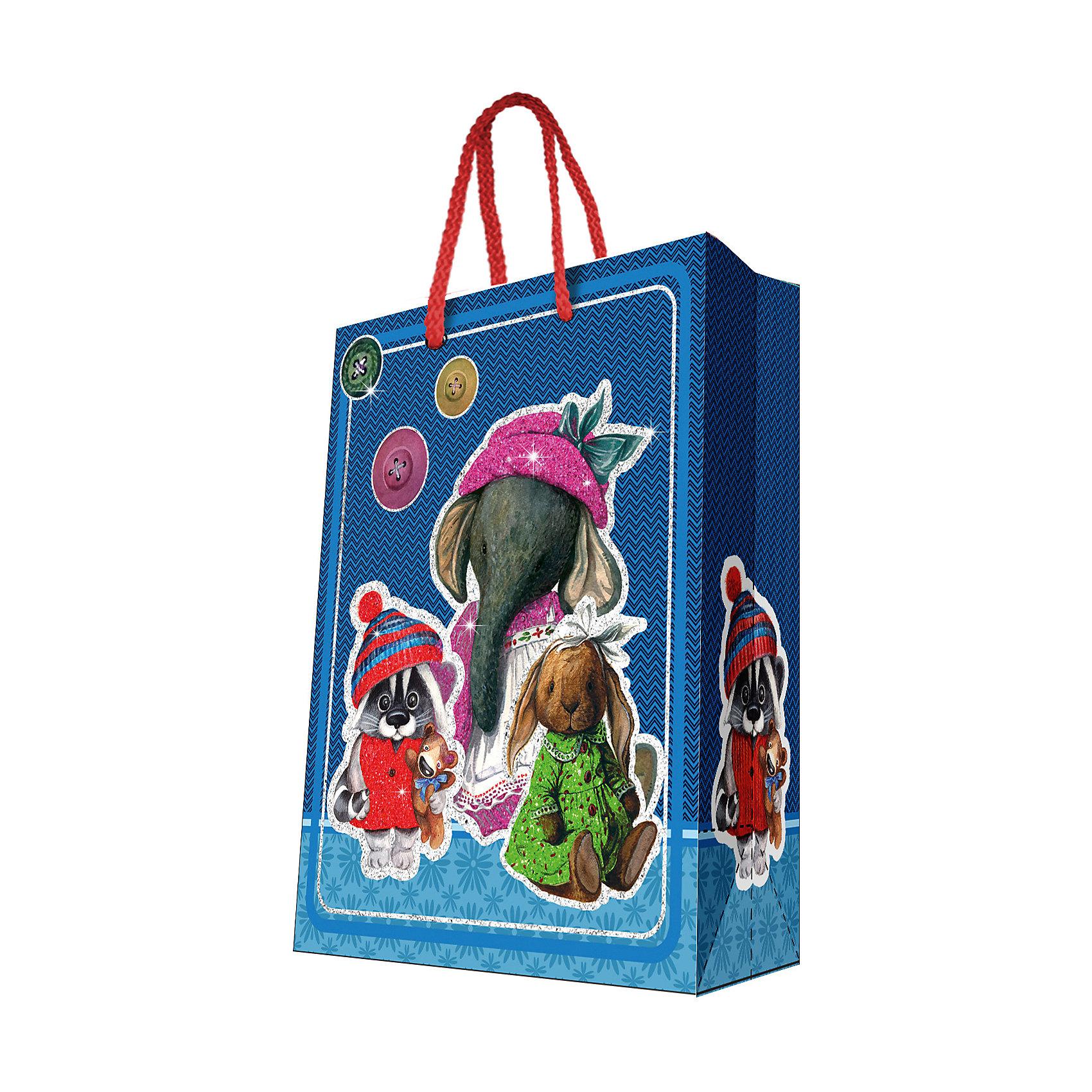 Феникс-Презент Подарочный пакет Ретро-игрушки 26*32,4*12,7 см magic time подарочный пакет новогодняя лампа 26 32 4 12 7 см