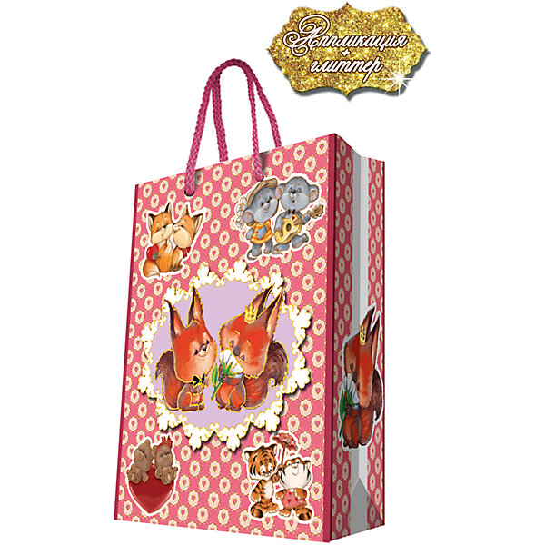 Подарочный пакет Зверята 26*32,4*12,7 смДетские подарочные пакеты<br>Красиво упакованный подарок приятно получать вдвойне! Прочный красивый бумажный пакет станет прекрасным дополнением к подарку.<br><br>Дополнительная информация:<br><br>- Материал: бумага (плотность бумаги 250 г/м2).<br>- Размер: 26х32,4х12,7 cм.<br>- Ширина основания: 26 см.<br>- Эффект: ламинация.<br><br>Подарочный пакет Зверята 26х32,4х12,7 см, можно купить в нашем магазине.<br>Ширина мм: 260; Глубина мм: 324; Высота мм: 127; Вес г: 100; Возраст от месяцев: 36; Возраст до месяцев: 2147483647; Пол: Женский; Возраст: Детский; SKU: 4548403;