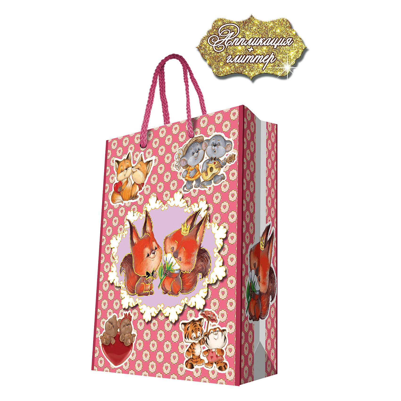 Феникс-Презент Подарочный пакет Зверята 26*32,4*12,7 см феникс презент подарочный пакет лимоны 26 32 4 12 7 см
