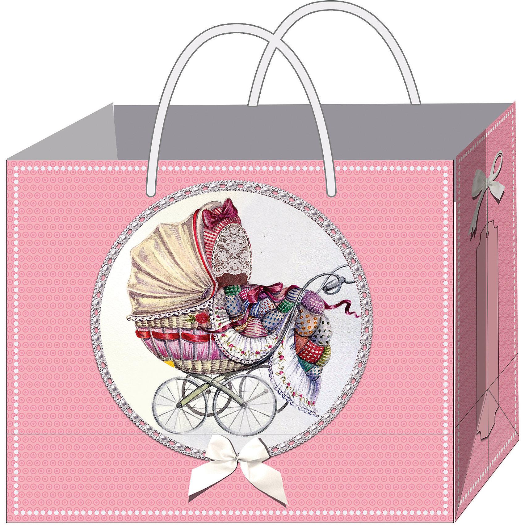 Феникс-Презент Подарочный пакет Ретро-коляска 40,6*16*33 см феникс презент подарочный пакет лимоны 26 32 4 12 7 см