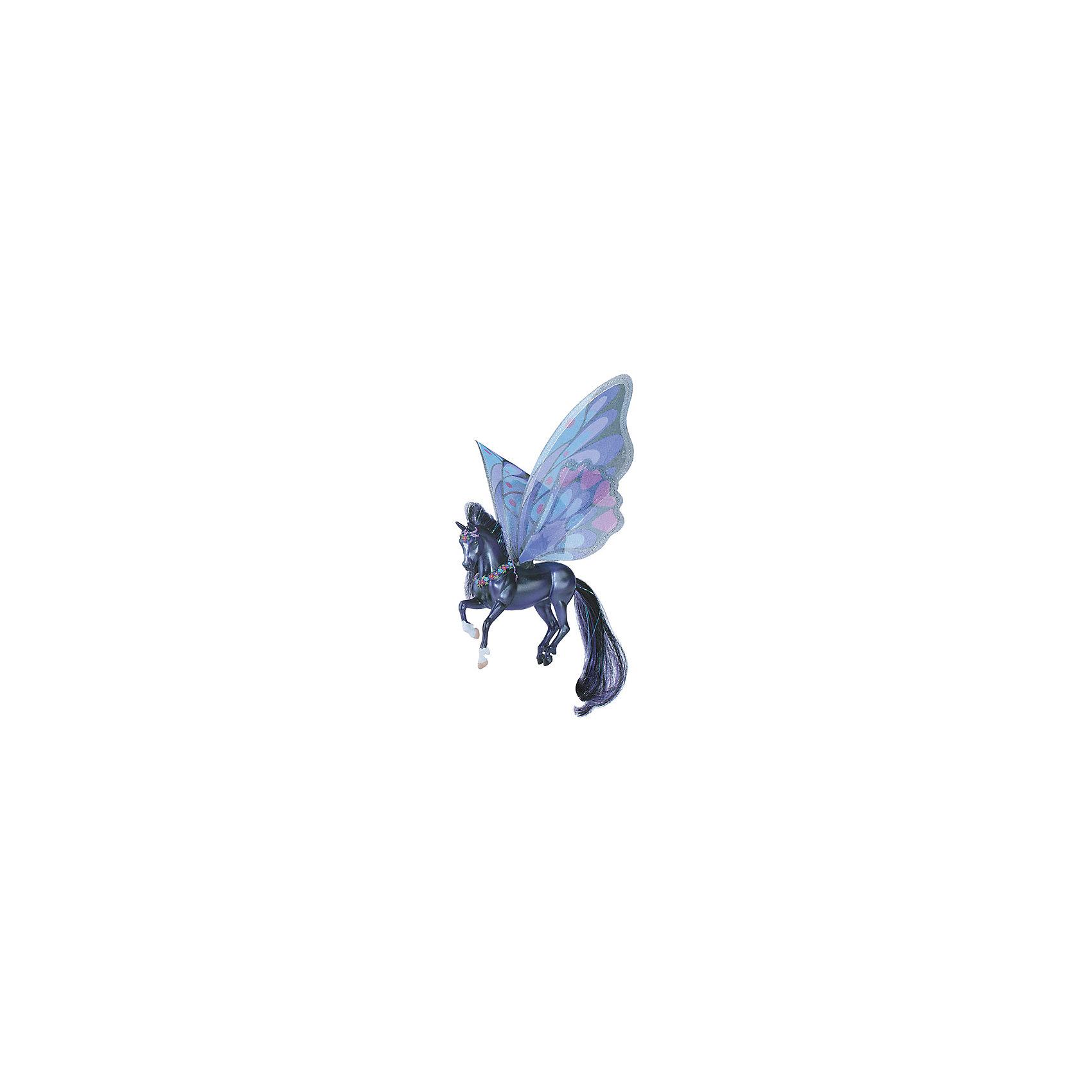 Лошадка с крыльями Кона, серия Танцы ветра, BreyerЛошадка с крыльями Кона, серия Танцы ветра, Breyer, станет отличным подарком для всех любителей этих грациозных животных. Очаровательная лошадка Кона - героиня первой книги Танцы Ветра из целой серии книг, изданных международным книжным издательством Macmillan Publishers. Фигурка поразит Вас тщательной проработкой всех деталей и реалистичностью. У лошадки фиолетово-черного цвета роскошные блестящие грива и хвост в тон туловища, передние копыта - белые. На спине Коны шелковые полупрозрачные крылья, выполненные в нежных сиренево-розовых тонах. Лошадку украшают магические цветы на голове и груди.<br><br>Лошадки, созданные мастерами компании Breyer (Бреер) являются самыми реалистичными копиями лошадей. Они отличаются точностью линий, тщательной проработкой мелких деталей и ручной росписью. Каждая лошадка особенная и не похожая на других, это настоящее произведение искусства, которое будет радовать не только детей, но и взрослых.<br><br>Дополнительная информация:<br><br>- Материал: пластик.<br>- Размер игрушки: 11,5 х 9 см.<br>- Размер упаковки: 19 х 4 х 27 см.<br>- Вес: 0,3 кг.<br><br>Лошадку с крыльями Кона, серия Танцы ветра, Breyer, можно купить в нашем интернет-магазине.<br><br>Ширина мм: 190<br>Глубина мм: 40<br>Высота мм: 270<br>Вес г: 300<br>Возраст от месяцев: 36<br>Возраст до месяцев: 1188<br>Пол: Унисекс<br>Возраст: Детский<br>SKU: 4552538