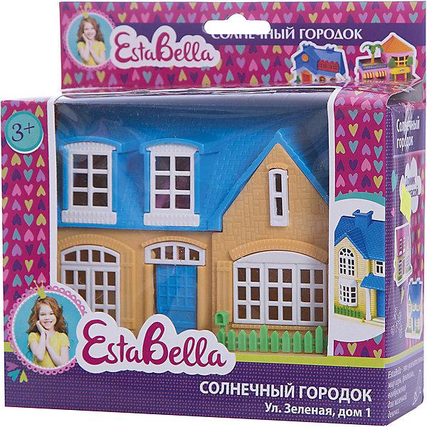 Домик Солнечный городок террасой, EstaBellaДомики для кукол<br>Домик Солнечный городок террасой, EstaBella (Эстабелла) – это красивый домик для увлекательных сюжетно-ролевых игр.<br>Домик Солнечный городок террасой перенесет вашего ребенка в увлекательный мир игры, фантазии и воображения. С помощью данной игрушки ребенок сможет разыграть разнообразные ситуации из жизни. Сюжетно-ролевая игра способствует развитию фантазии и воображения, творческого и логического мышления, речи и навыков общения. Игрушка выполнена из безопасного для детей пластика.<br><br>Дополнительная информация:<br><br>- Материал: пластик<br>- Размер упаковки: 18х6,5х17,5 см.<br>- Вес: 250 гр.<br><br>Домик Солнечный городок террасой, EstaBella (Эстабелла) можно купить в нашем интернет-магазине.<br><br>Ширина мм: 180<br>Глубина мм: 65<br>Высота мм: 175<br>Вес г: 250<br>Возраст от месяцев: 36<br>Возраст до месяцев: 72<br>Пол: Женский<br>Возраст: Детский<br>SKU: 4552896