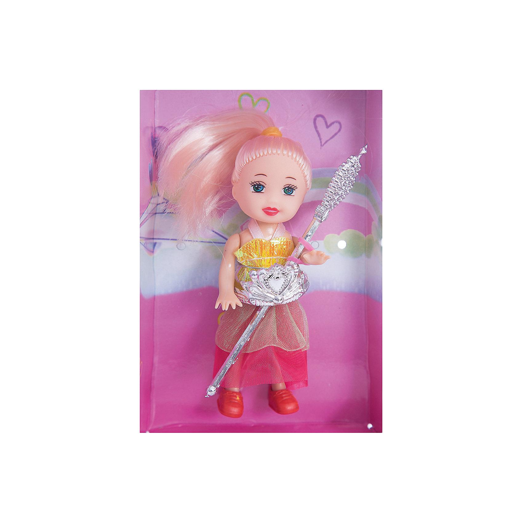 Кукла Маленькая Принцесса, EstaBellaКлассические куклы<br>Кукла Маленькая Принцесса, EstaBella (Эстабелла) – эта малышка непременно порадует вашу девочку.<br>Познакомьтесь с чудесной маленькой принцессой! Ее выразительные глаза по-настоящему очаровывают. Волосы с разноцветными прядями завязаны розовыми резиночками. Малышка одета в очаровательное платье с пышной юбкой. Королевский атрибут юной принцессы - волшебная палочка. Такая кукла обязательно понравится вашей девочке и возможно станет самой любимой игрушкой.<br><br>Дополнительная информация:<br><br>- Высота куклы: 10 см.<br>- Материал: пластик, текстиль<br>- Размер упаковки: 14х4х8 см.<br><br>Куклу Маленькая Принцесса, EstaBella (Эстабелла) можно купить в нашем интернет-магазине.<br><br>Ширина мм: 140<br>Глубина мм: 40<br>Высота мм: 80<br>Вес г: 440<br>Возраст от месяцев: 36<br>Возраст до месяцев: 72<br>Пол: Женский<br>Возраст: Детский<br>SKU: 4552898