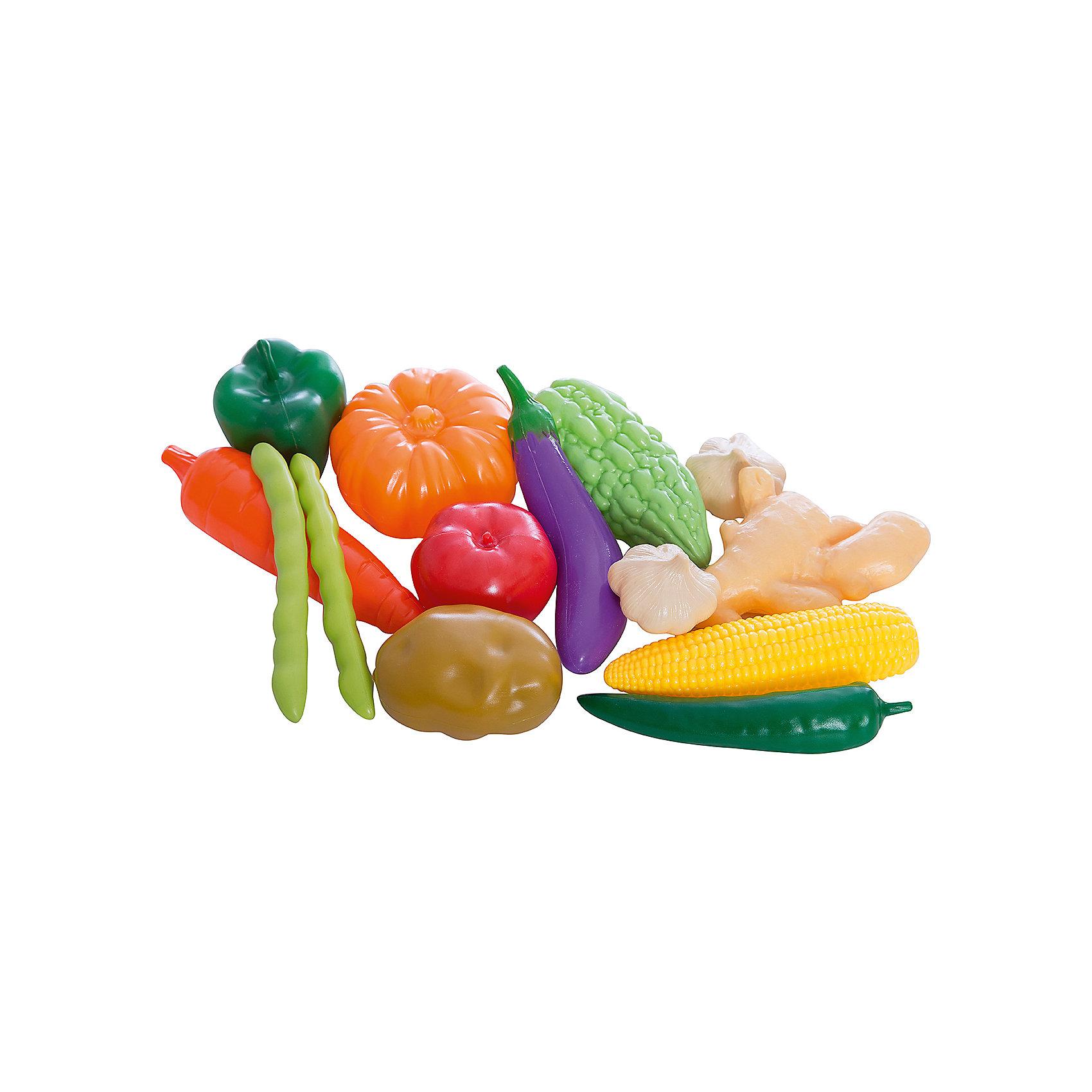 Набор Овощи и фрукты, EstaBellaИгрушечные продукты питания<br>Набор Овощи и фрукты, EstaBella (Эстабелла) – это красочный комплект муляжей фруктов и овощей для увлекательных сюжетно-ролевых игр.<br>Набор Овощи и фрукты от компании EstaBella (Эстабелла) подарит вашей девочке увлекательный мир ролевой игры, фантазии и воображения. Играя с ним, она будет готовиться к взрослой жизни и станет более самостоятельной, уверенной и активной. В комплект входят муляжи картофеля и баклажана, капусты и морковки, сладкого перца и помидора, тыквы и кукурузы и других овощей и фруктов. С таким большим количеством предметов малышке будет легко придумать множество разнообразных игровых сюжетов. Все элементы набора изготовлены из качественного пластика и покрыты нетоксичными красками, не имеют острых углов.<br><br>Дополнительная информация:<br><br>- В наборе: 14 муляжей овощей и фруктов<br>- Материал: пластик<br>- Упаковка: сетка<br>- Размер упаковки: 20х17х12 см.<br>- Вес: 222 гр.<br><br>Набор Овощи и фрукты, EstaBella (Эстабелла) можно купить в нашем интернет-магазине.<br><br>Ширина мм: 200<br>Глубина мм: 120<br>Высота мм: 170<br>Вес г: 222<br>Возраст от месяцев: 36<br>Возраст до месяцев: 72<br>Пол: Женский<br>Возраст: Детский<br>SKU: 4552905