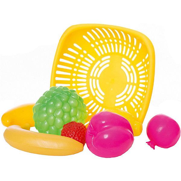 Набор Овощи и фрукты, EstaBellaИгрушечные продукты питания<br>Набор Овощи и фрукты, EstaBella (Эстабелла) – это красочный комплект муляжей фруктов для увлекательных сюжетно-ролевых игр.<br>Набор Овощи и фрукты от компании EstaBella (Эстабелла) подарит вашей девочке увлекательный мир ролевой игры, фантазии и воображения. Играя с ним, она будет готовиться к взрослой жизни и станет более самостоятельной, уверенной и активной. В комплект входят муляжи банана, клубники, лимона и других фруктов, а также корзинка. С таким набором малышке будет легко придумать разнообразные игровые сюжеты. Все элементы набора изготовлены из качественного пластика и покрыты нетоксичными красками, не имеют острых углов.<br><br>Дополнительная информация:<br><br>- В наборе: корзинка, 5 муляжей фруктов<br>- Материал: пластик<br>- Размер упаковки: 21х7х21 см.<br>- Вес: 187 гр.<br><br>Набор Овощи и фрукты, EstaBella (Эстабелла) можно купить в нашем интернет-магазине.<br><br>Ширина мм: 210<br>Глубина мм: 70<br>Высота мм: 210<br>Вес г: 187<br>Возраст от месяцев: 36<br>Возраст до месяцев: 72<br>Пол: Женский<br>Возраст: Детский<br>SKU: 4552906
