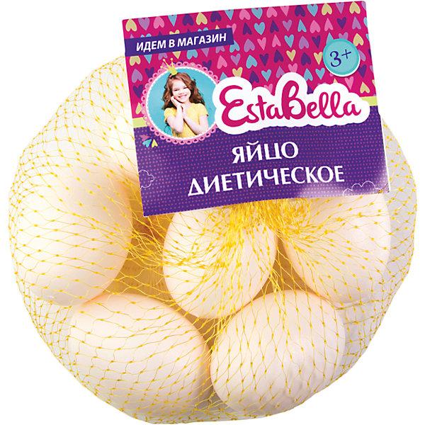 Набор Яйцо диетическое, EstaBellaИгрушечные продукты питания<br>Набор Яйцо диетическое, EstaBella (Эстабелла) – непременно понравится вашей юной хозяйке.<br>Набор Яйцо диетическое подарит вашей девочке увлекательный мир ролевой игры, фантазии и воображения. Играя с ним, она будет готовиться к взрослой жизни и станет более самостоятельной, уверенной и активной. Набор прекрасно подойдет для сюжетно-ролевых игр и станет прекрасным дополнением к любой кукольной кухне. Изготовлен из высококачественной и безопасной пластмассы.<br><br>Дополнительная информация:<br><br>- В наборе: 6 яиц<br>- Материал: пластмасса<br>- Размер упаковки: 15х5,5х15 см.<br><br>Набор Яйцо диетическое, EstaBella (Эстабелла) можно купить в нашем интернет-магазине.<br><br>Ширина мм: 150<br>Глубина мм: 55<br>Высота мм: 150<br>Вес г: 510<br>Возраст от месяцев: 36<br>Возраст до месяцев: 72<br>Пол: Женский<br>Возраст: Детский<br>SKU: 4552912