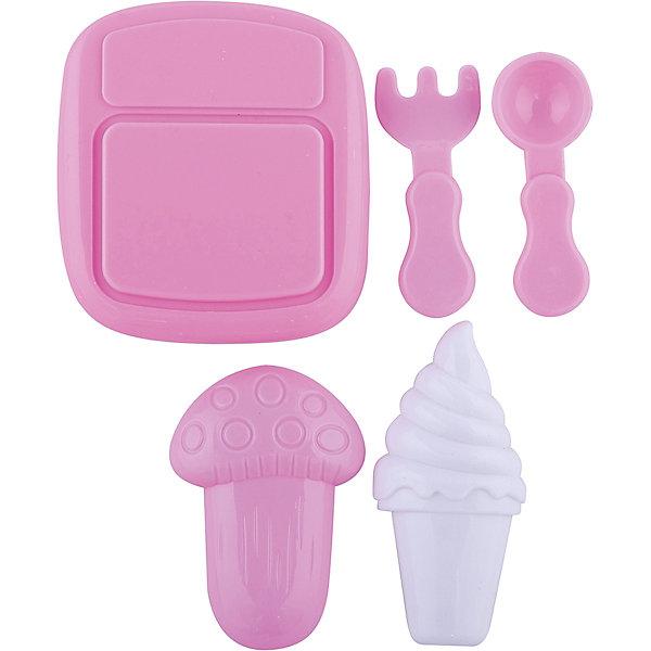 Набор посудки Все для обеда, EstaBellaДетские кухни<br>Набор посудки Все для обеда, EstaBella (Эстабелла) – непременно понравится вашей юной хозяйке.<br>Набор посудки Все для обеда подарит вашей девочке увлекательный мир ролевой игры, фантазии и воображения. Играя с ним, она будет готовиться к взрослой жизни и станет более самостоятельной, уверенной и активной. Набор прекрасно подойдет для сюжетно-ролевых игр и станет прекрасным дополнением к любой кукольной кухне. Изготовлен из высококачественной и безопасной пластмассы.<br><br>Дополнительная информация:<br><br>- В наборе: разделочная доска, вилка, нож, другие аксессуары<br>- Материал: пластмасса<br>- Размер упаковки: 12х3х12 см.<br><br>Набор посудки Все для обеда, EstaBella (Эстабелла) можно купить в нашем интернет-магазине.<br><br>Ширина мм: 120<br>Глубина мм: 30<br>Высота мм: 120<br>Вес г: 390<br>Возраст от месяцев: 36<br>Возраст до месяцев: 72<br>Пол: Женский<br>Возраст: Детский<br>SKU: 4552915