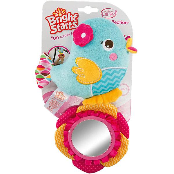 Развиващая игрушка Птичка, Bright StartsИгрушки для новорожденных<br>Характеристики развивающей игрушки Bright Starts:<br><br>• высота игрушки: 24 см;<br>• материал: текстиль;<br>• размер упаковки: 20x17x5 см;<br>• вес упаковки: 60 г.<br><br>Развивающая игрушка «Птичка» мягкая на ощупь, имеет безопасное зеркальце, крепится к коляске, кроватке или автокреслу. <br><br>Развивающую игрушку Птичка, Bright Starts можно купить в нашем интернет-магазине.<br>Ширина мм: 145; Глубина мм: 48; Высота мм: 244; Вес г: 91; Возраст от месяцев: 4; Возраст до месяцев: 36; Пол: Унисекс; Возраст: Детский; SKU: 4553888;